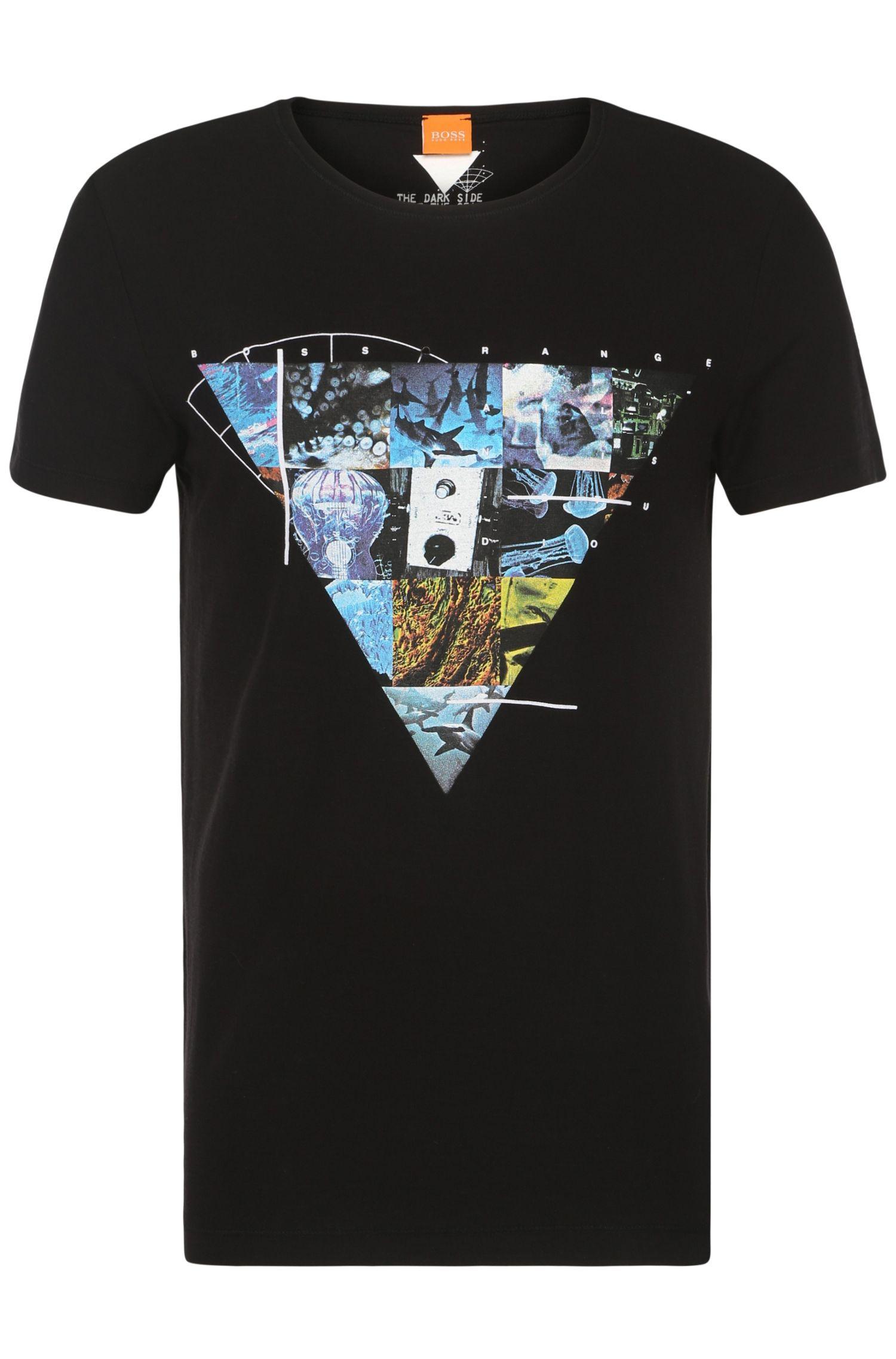 T-shirt imprimé en coton: «Teak»