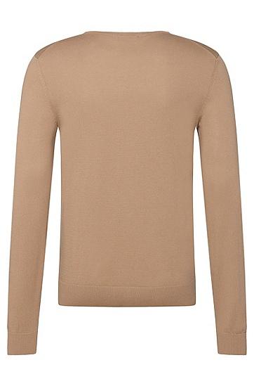 Slim-Fit Pullover aus Baumwolle: 'Fabbert-H', Hellbeige