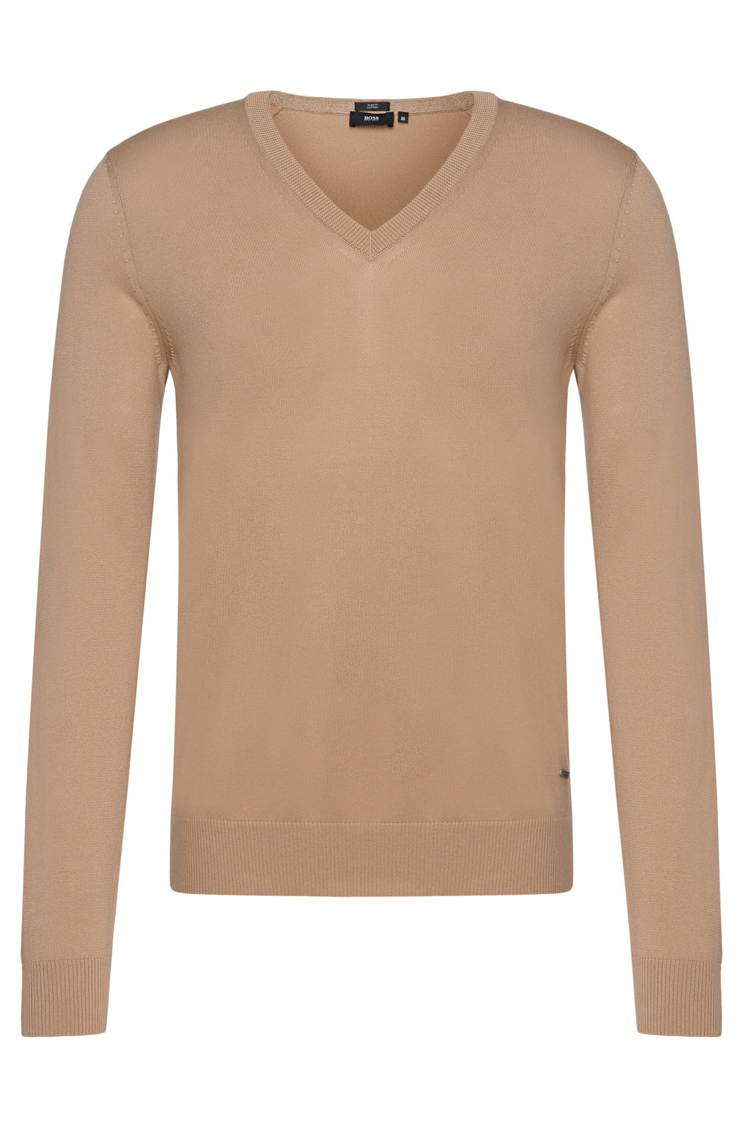 Slim-fit sweater in cotton: 'Fabbert-H'