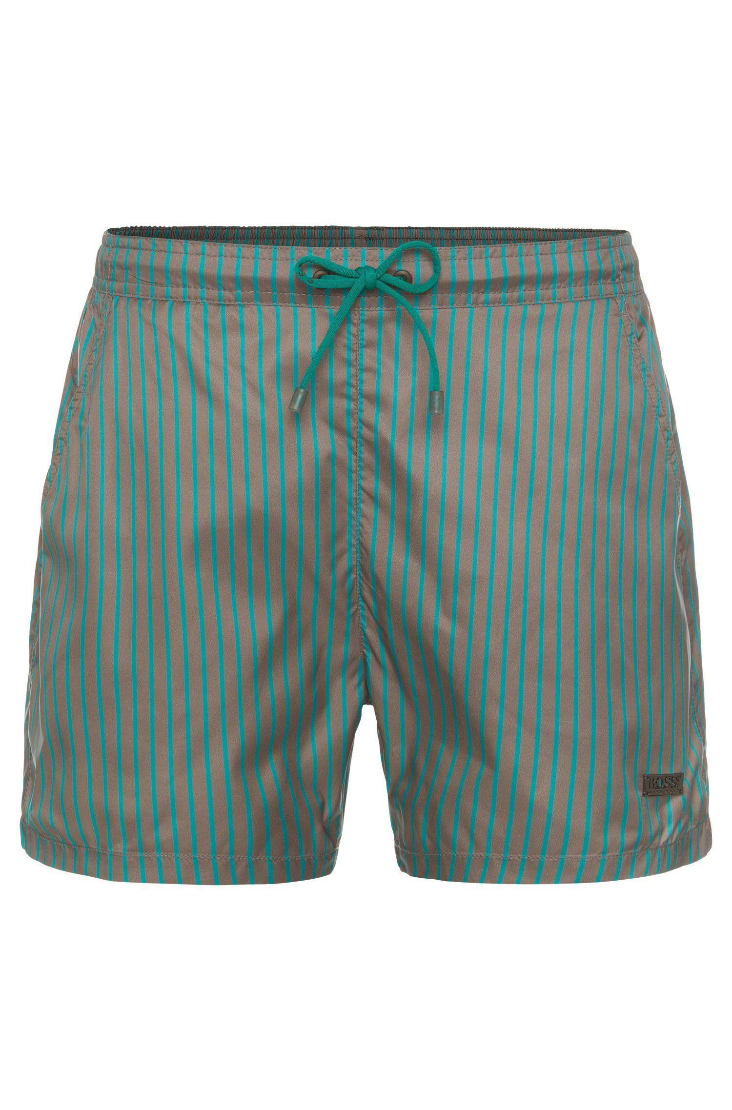 Short de bain à rayures en tissu au séchage rapide: «Marlin»
