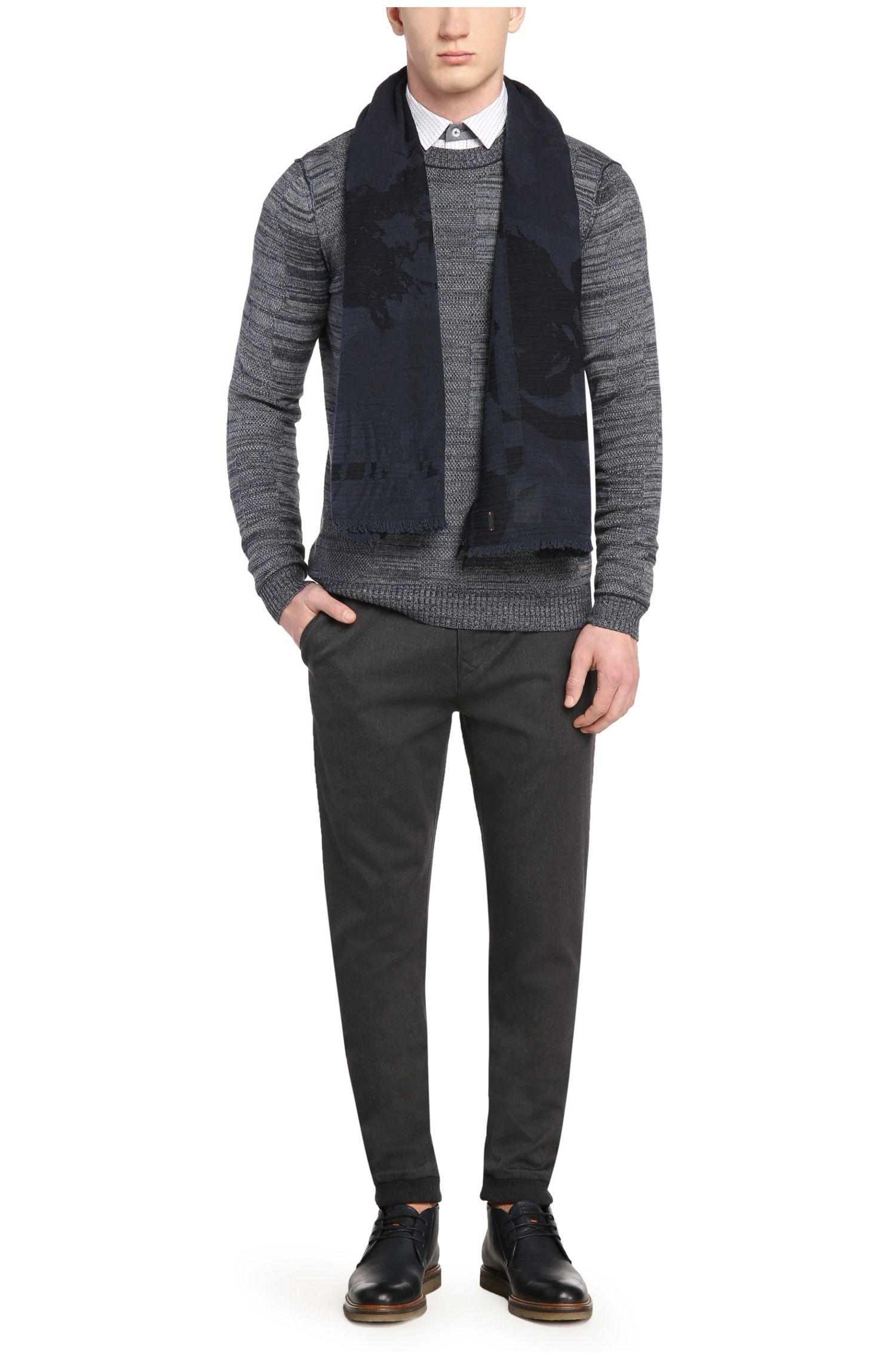 Pantalon Tapered Fit en coton avec de l'élasthanne: «Siman1-W»