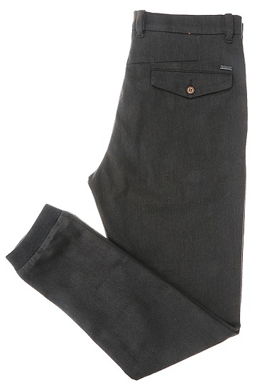 锥形版棉和弹性纤维混纺长裤:'Siman1-W',  020_灰色
