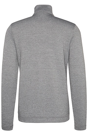 Regular-Fit Sweatshirt-Jacke aus Baumwoll-Mix: ´C-Fossa`, Grau