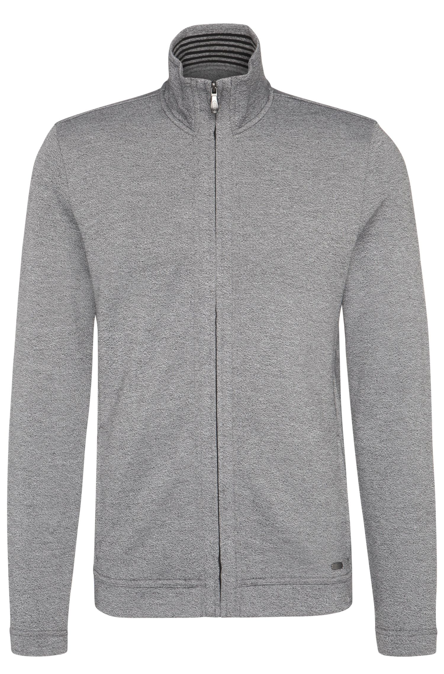 Blouson sweat Regular Fit en coton mélangé : « C-Fossa »