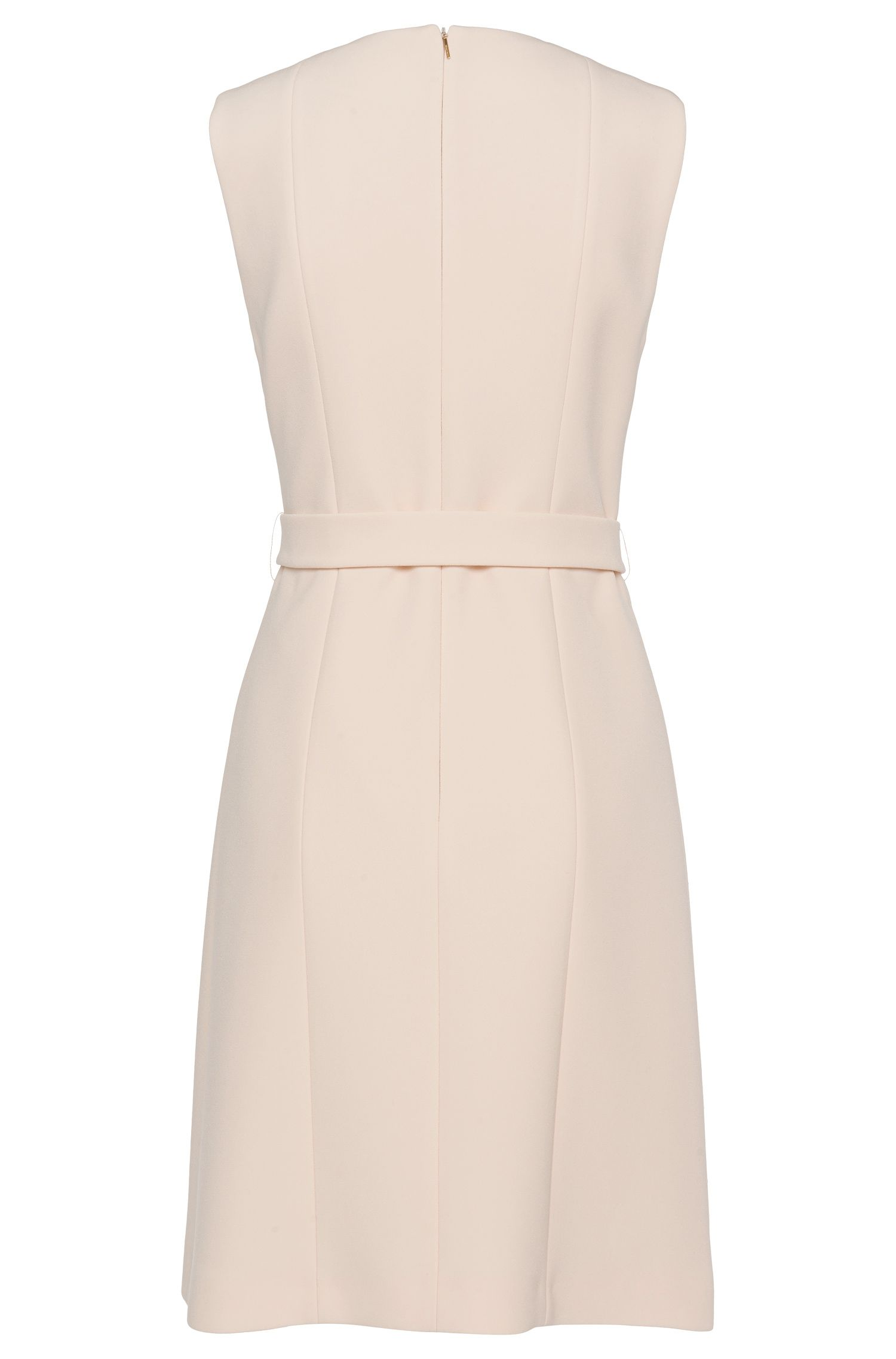 Mouwloze jurk met tailleceintuur: 'Diganira'