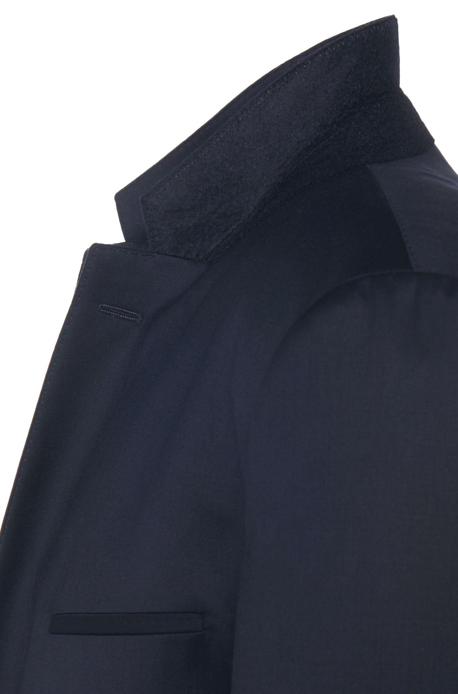 Costume Slim Fit uni en laine vierge: «Arti1/Heilon»
