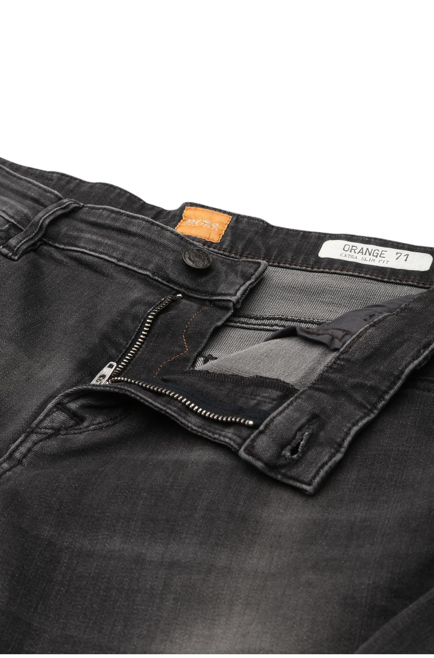 Extra Slim-Fit Jeans aus elastischem Baumwoll-Mix: ´Orange71`