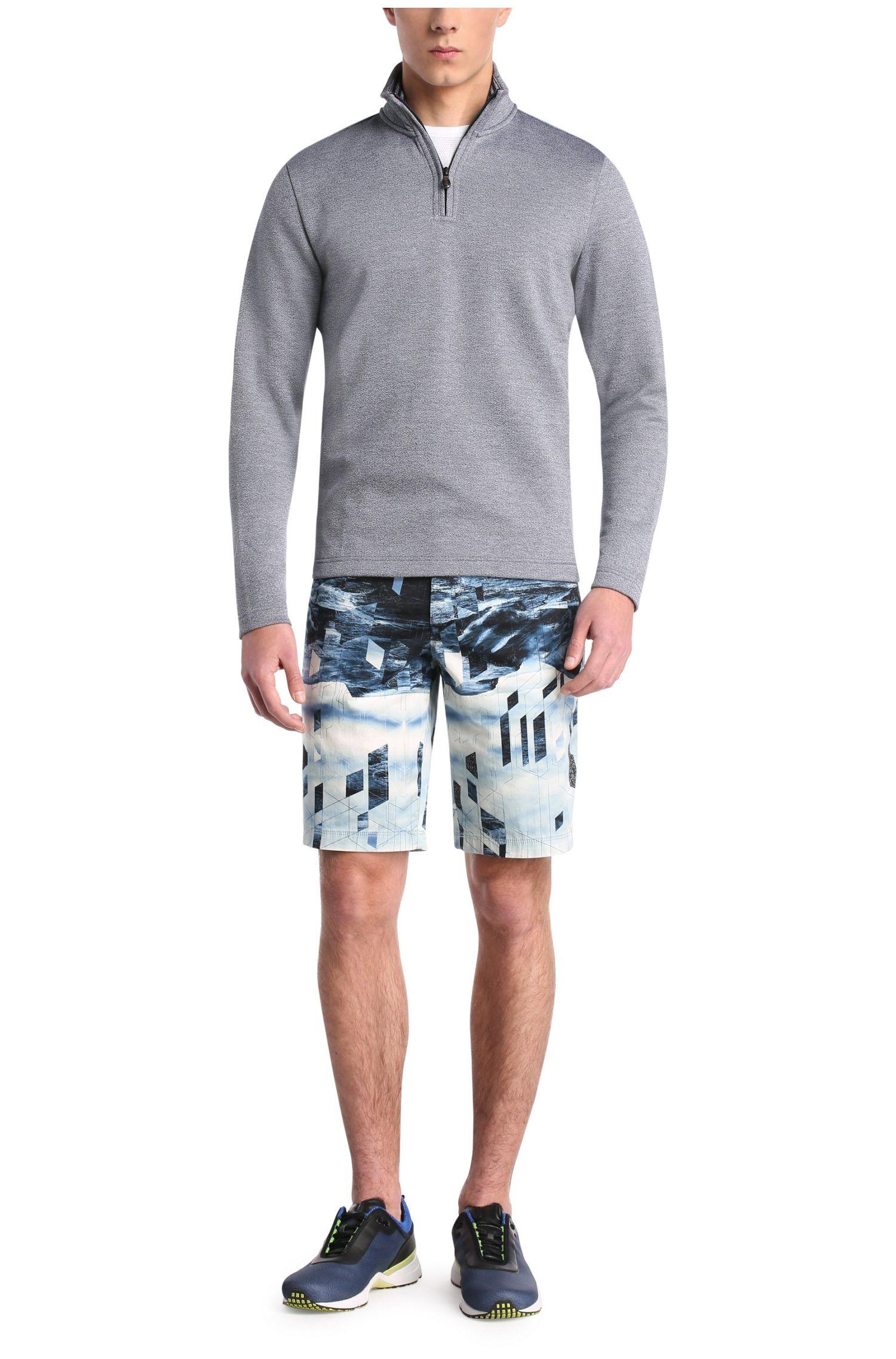 Sweatshirt im Troyer-Stil aus elastischer Baumwolle: ´C-Piceno`