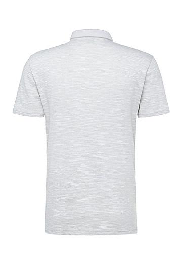 Gestreiftes Regular-Fit Poloshirt aus Baumwoll-Mix: ´C-Rapino`, Hellgrau