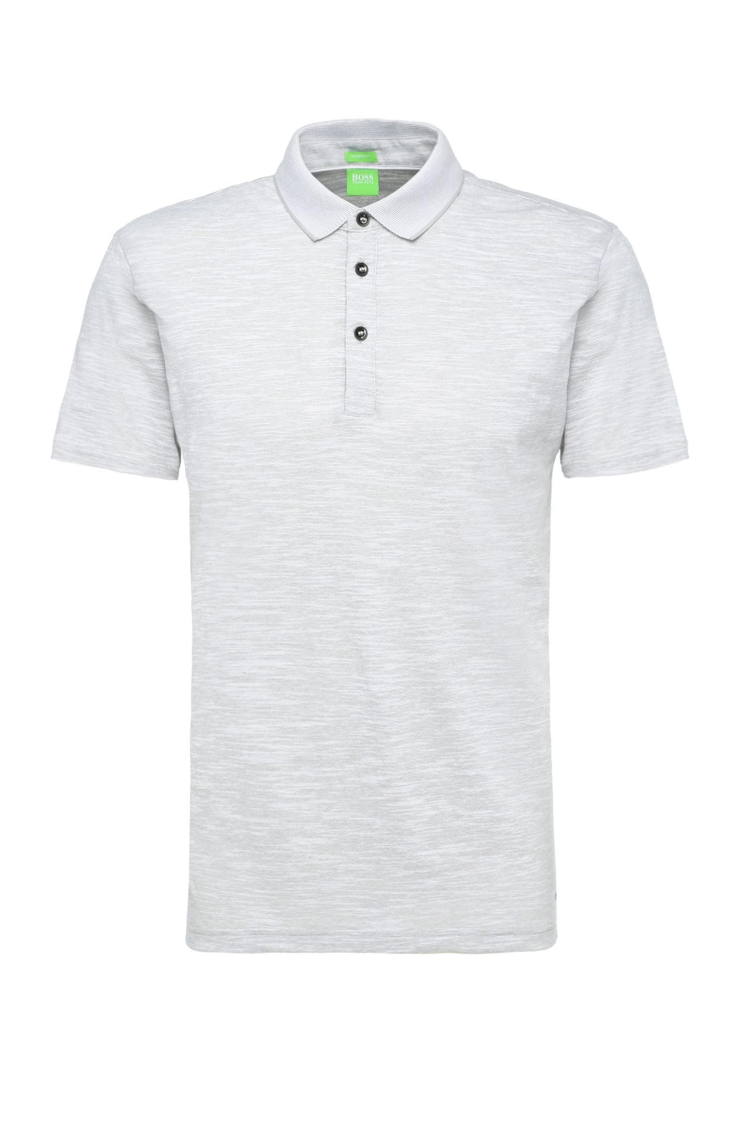 Striped regular-fit polo shirt in cotton blend: 'C-Rapino'