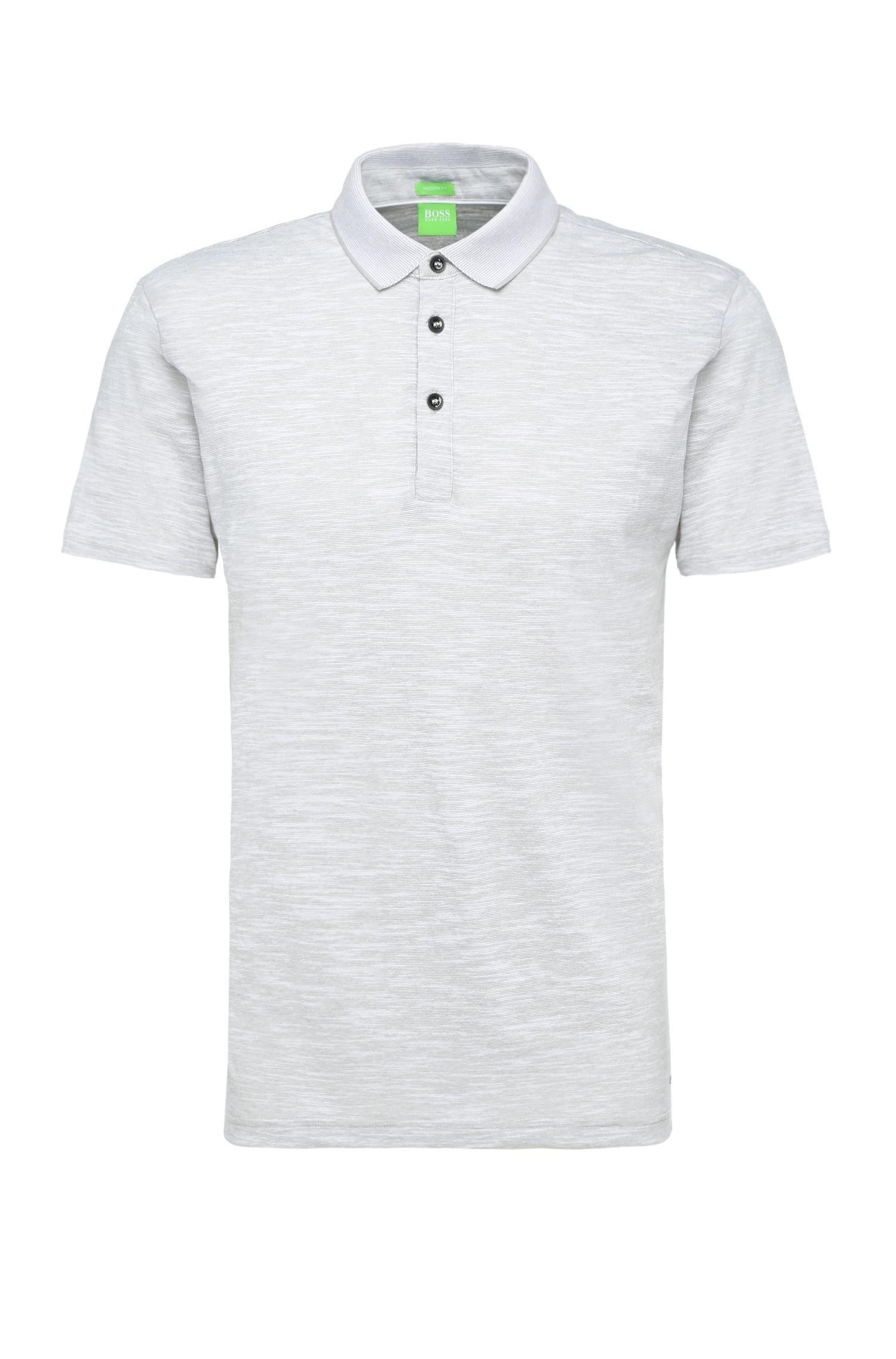 Gestreiftes Regular-Fit Poloshirt aus Baumwoll-Mix: ´C-Rapino`