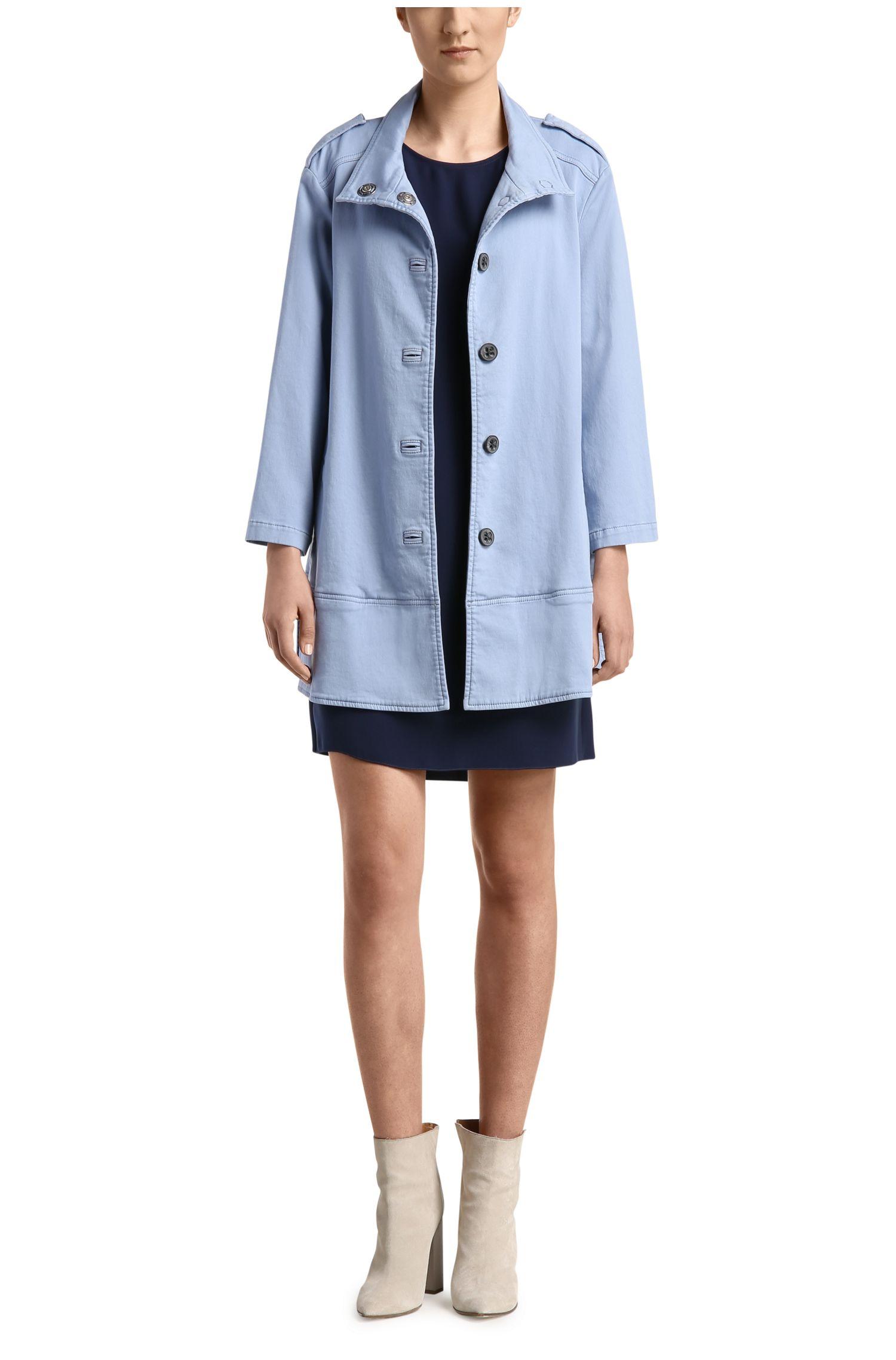 Kurzes Comfort-Fit Kleid mit Plissee-Stoff an der Rückseite: ´Acuty`