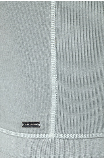 Baumwoll-Sweater im Maschen-Mix: ´Wheelo`, Hellgrau