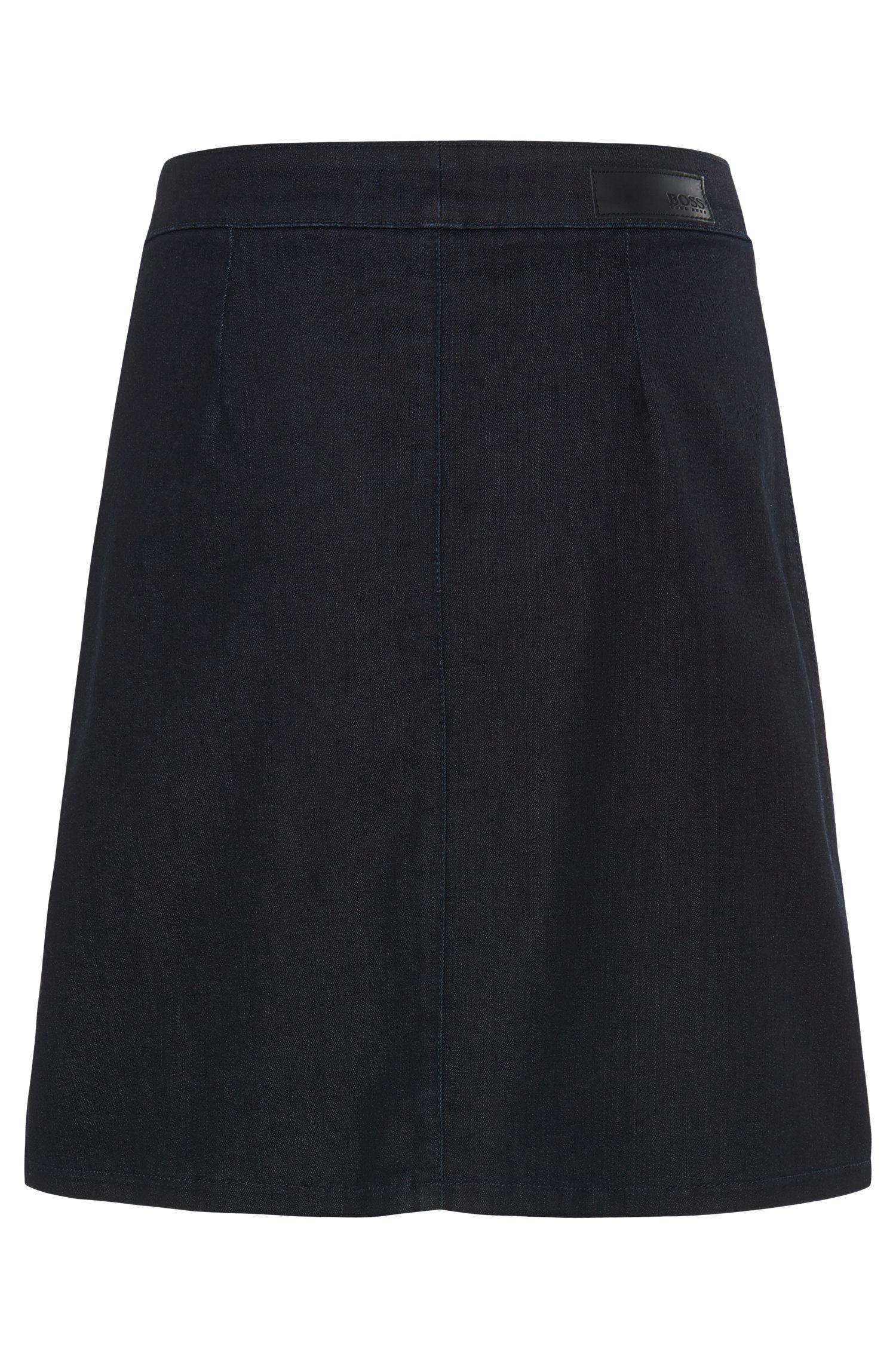 Jupe en jean en coton mélangé stretch: «Noyah SLOW»