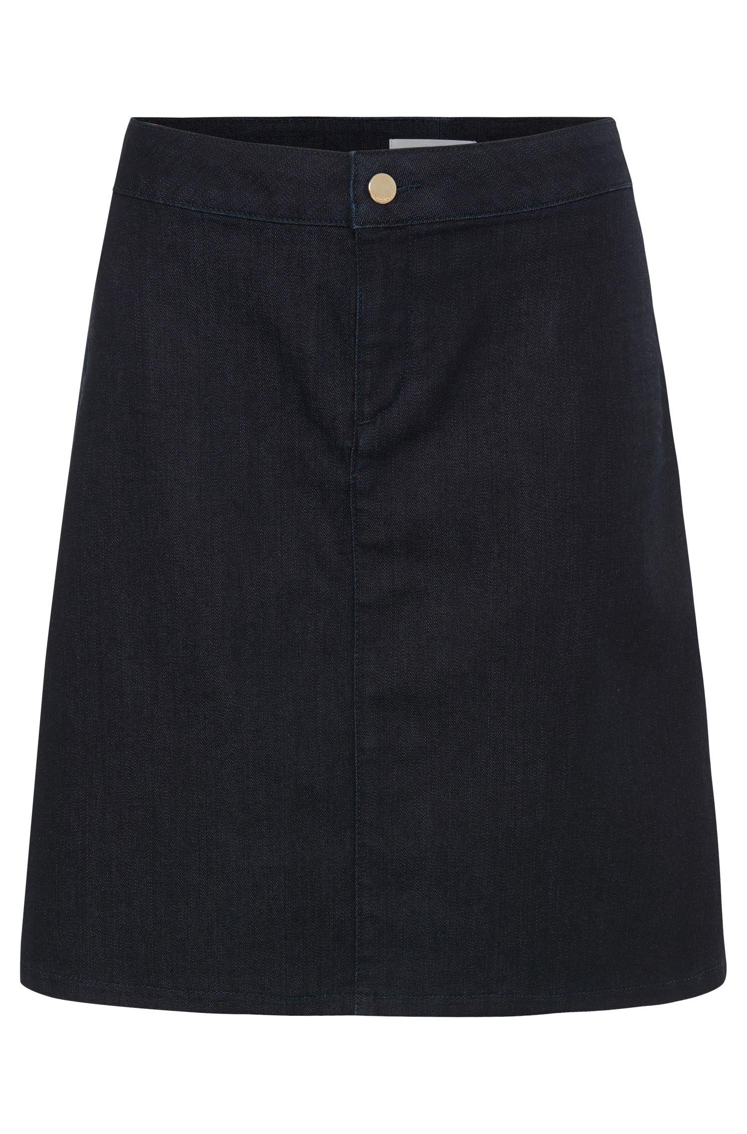 Denim skirt in stretchy cotton blend: 'Noyah SLOW'