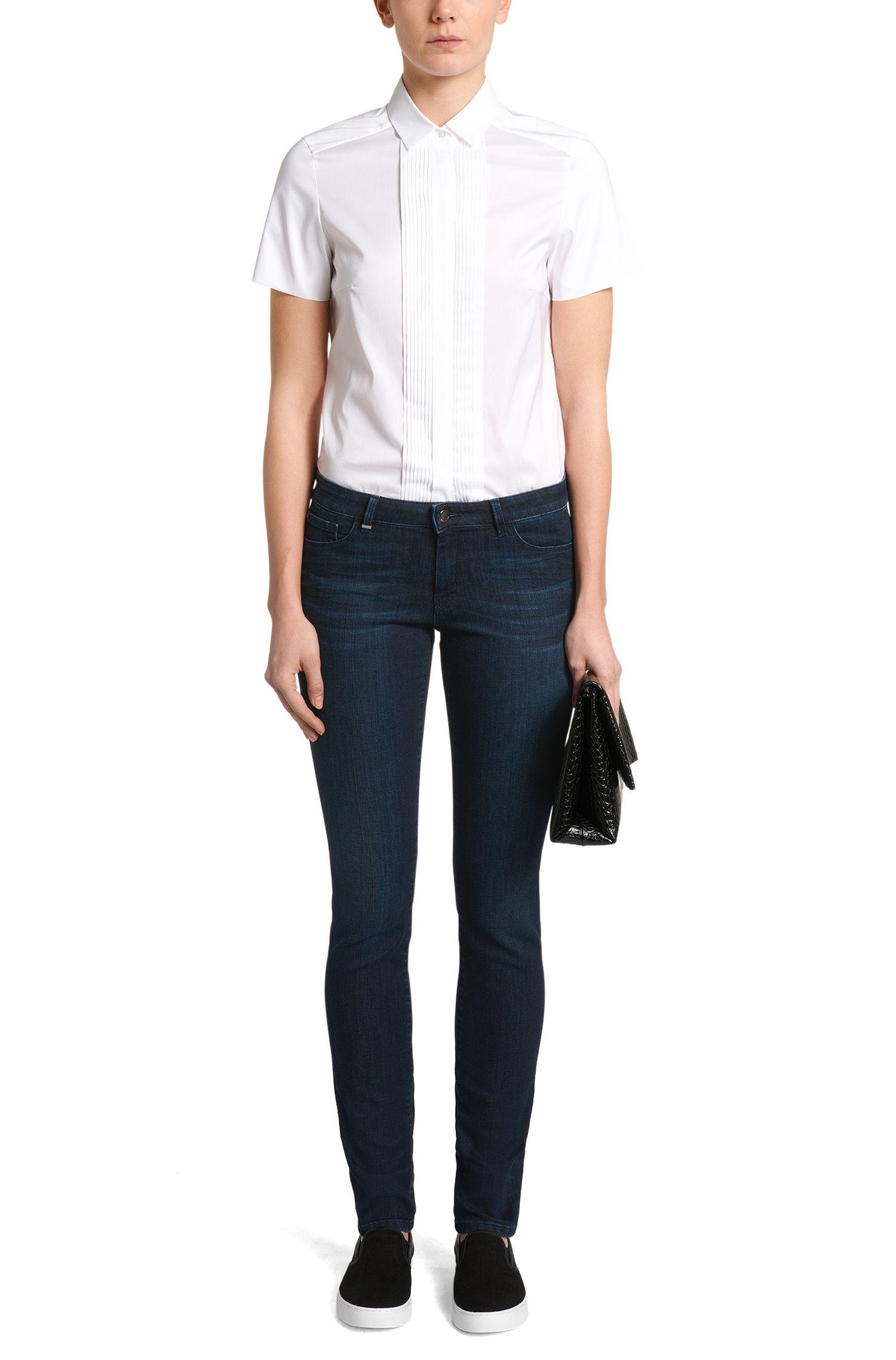 Jeans Regular Fit en coton mélangé extensible: «Nevila MOON»