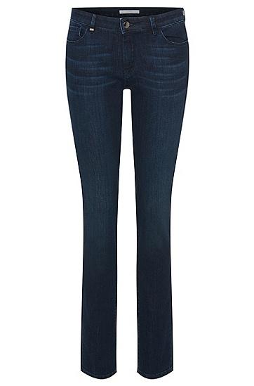 Regular-Fit Jeans aus elastischem Baumwoll-Mix: 'Nevila MOON', Dunkelblau