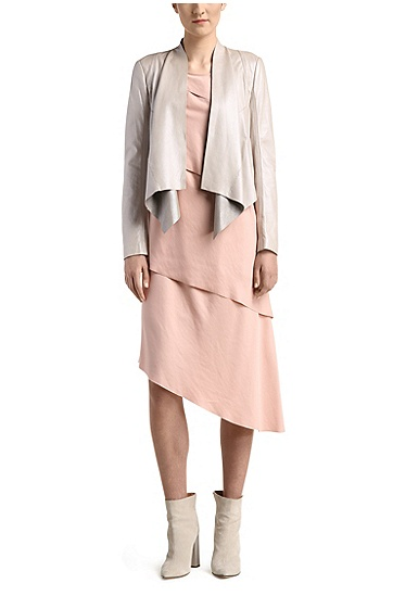 Asymmetric layered dress in a modal blend: 'Asimmy', Pink