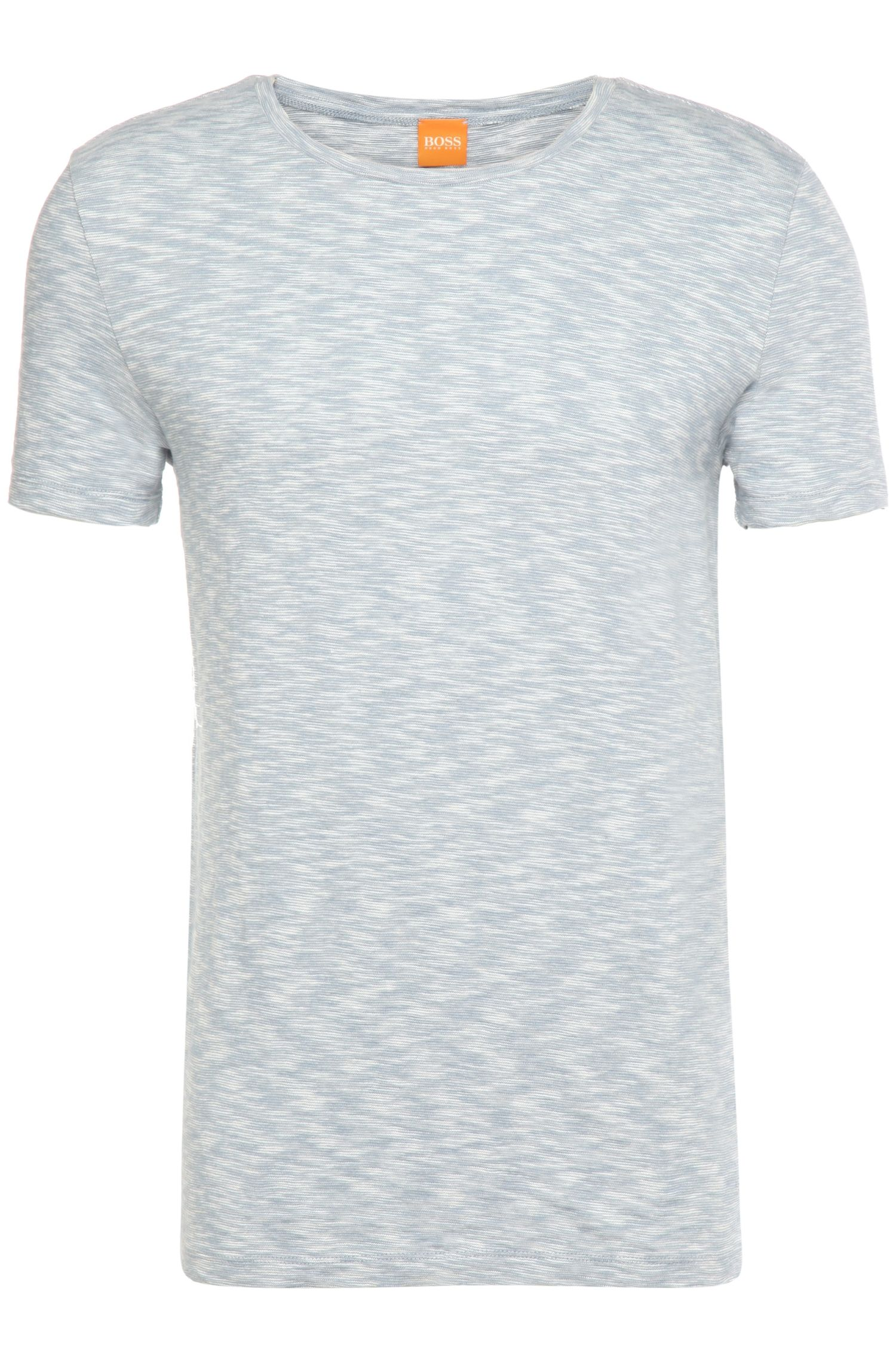 Regular-fit T-shirt van slub-stripe-jersey: 'Tomsk'
