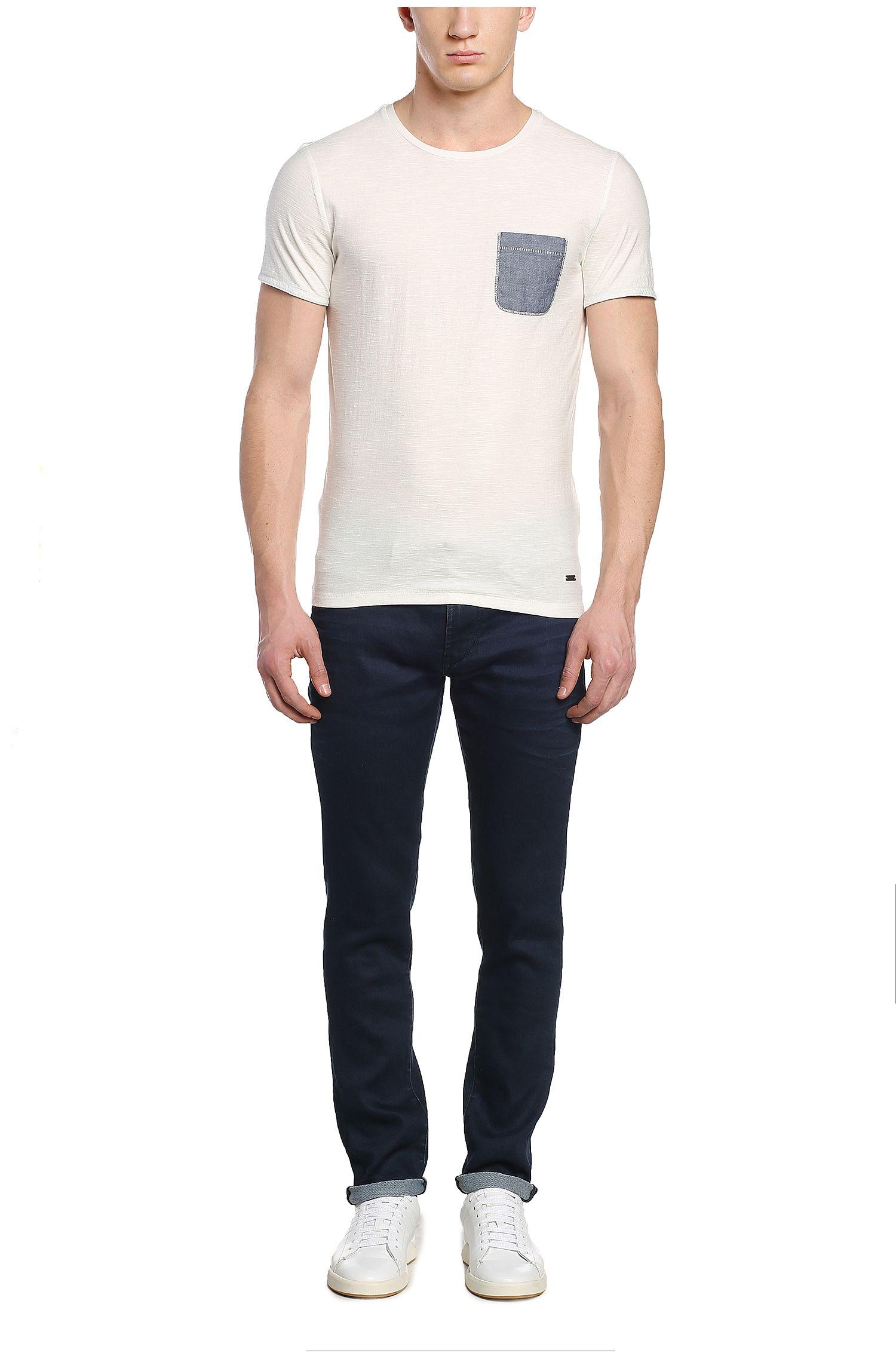 Fashion-Fit Baumwollshirt mit Kontrast-Tasche: ´Tred`