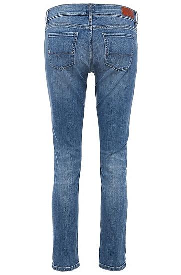 Comfort-Fit Jeans aus elastischer Baumwolle: ´Orange J31 Miami`, Blau