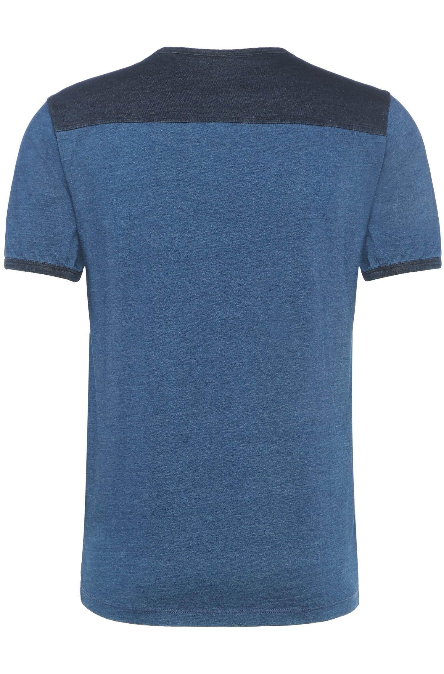 Regular-Fit Two-Tone-Shirt aus Baumwolle: ´Traveler`