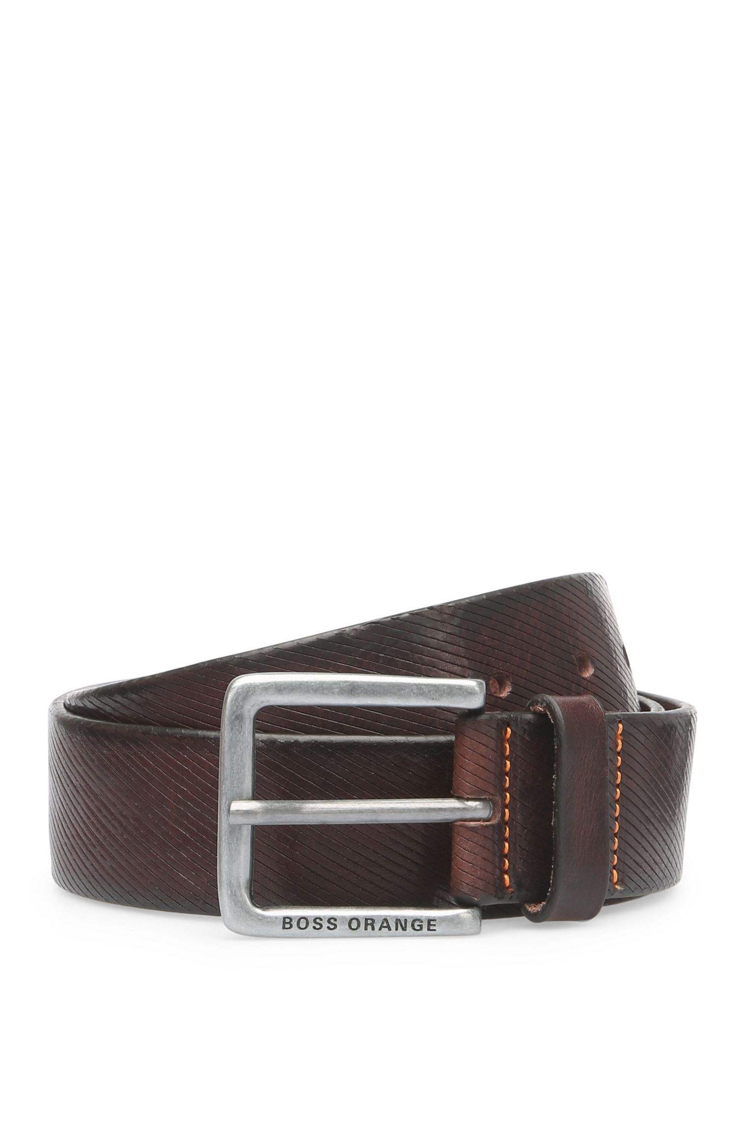 Belt in embossed leather: 'Jeeky_Sz40_ltem'