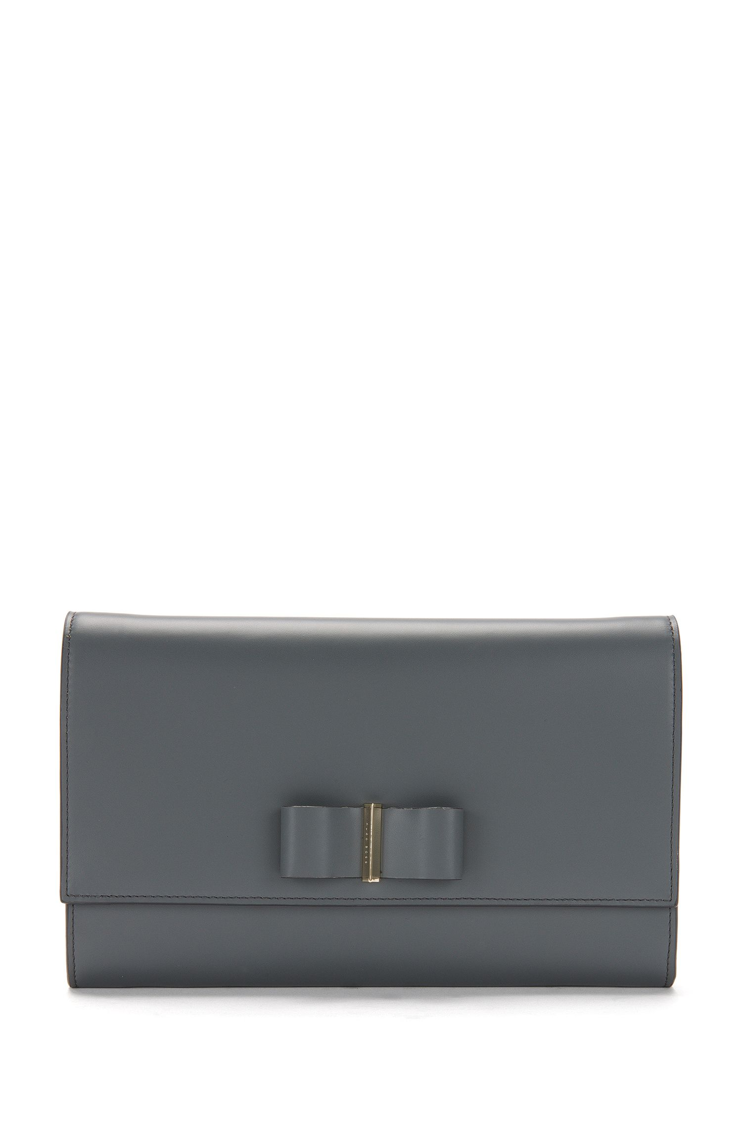 Leren clutch met lusdetail: 'Bow Mini Bag'