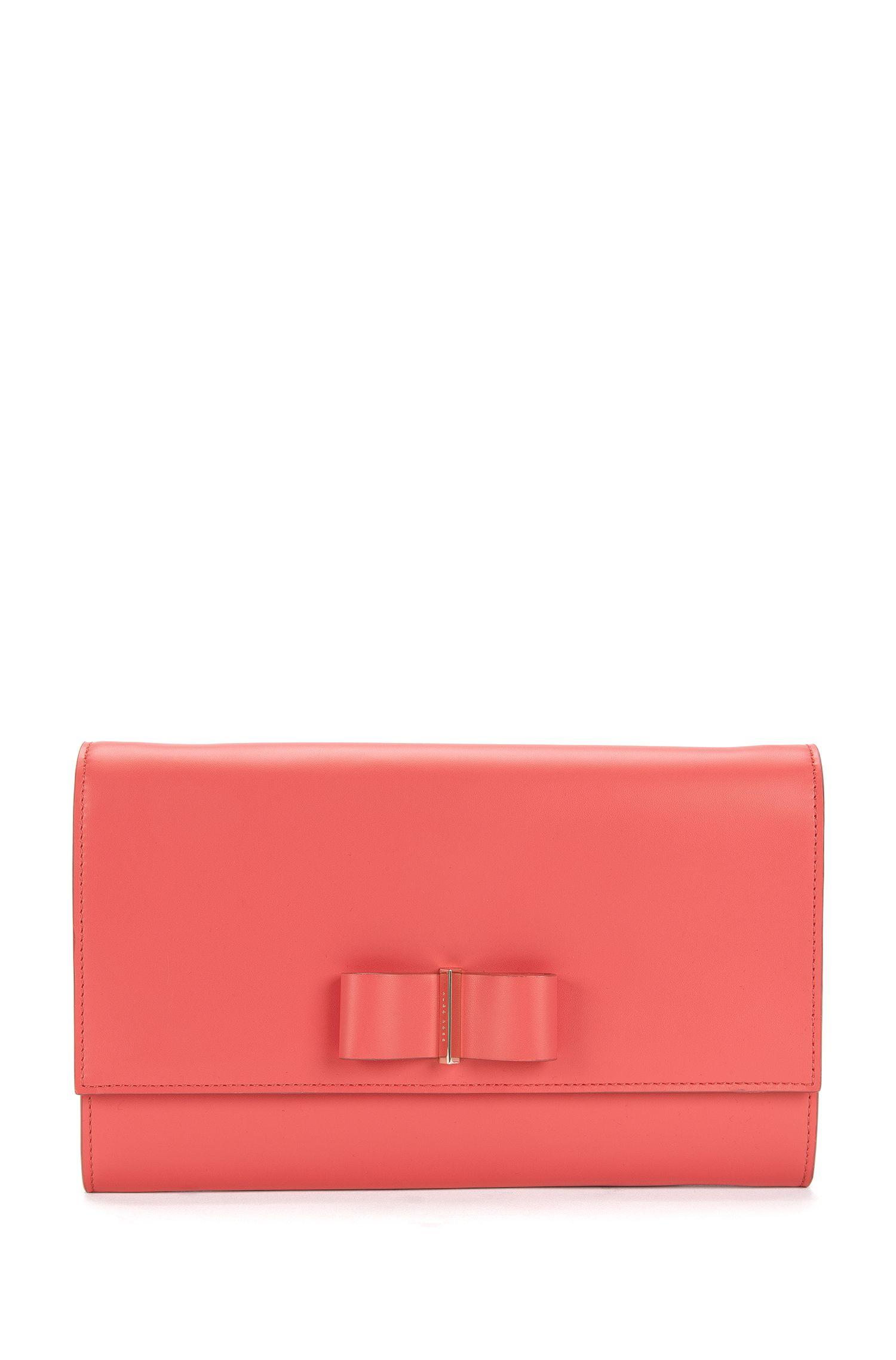 Pochette en cuir ornée d'un nœud: «Bow Mini Bag»