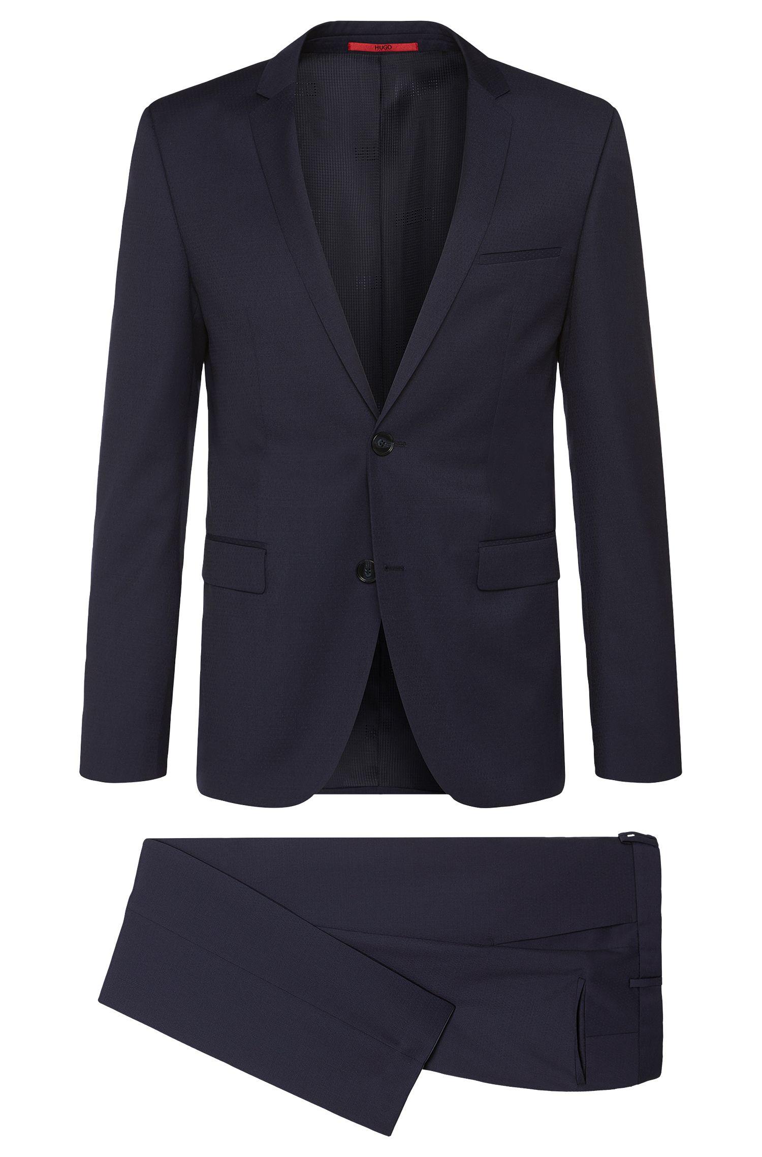 Extra-slim-fit suit in new wool: 'Adris4/Heibo3'