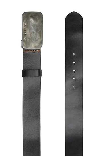 Ledergürtel mit Metallschnalle: ´Jack_Sz40_ltpl`, Schwarz