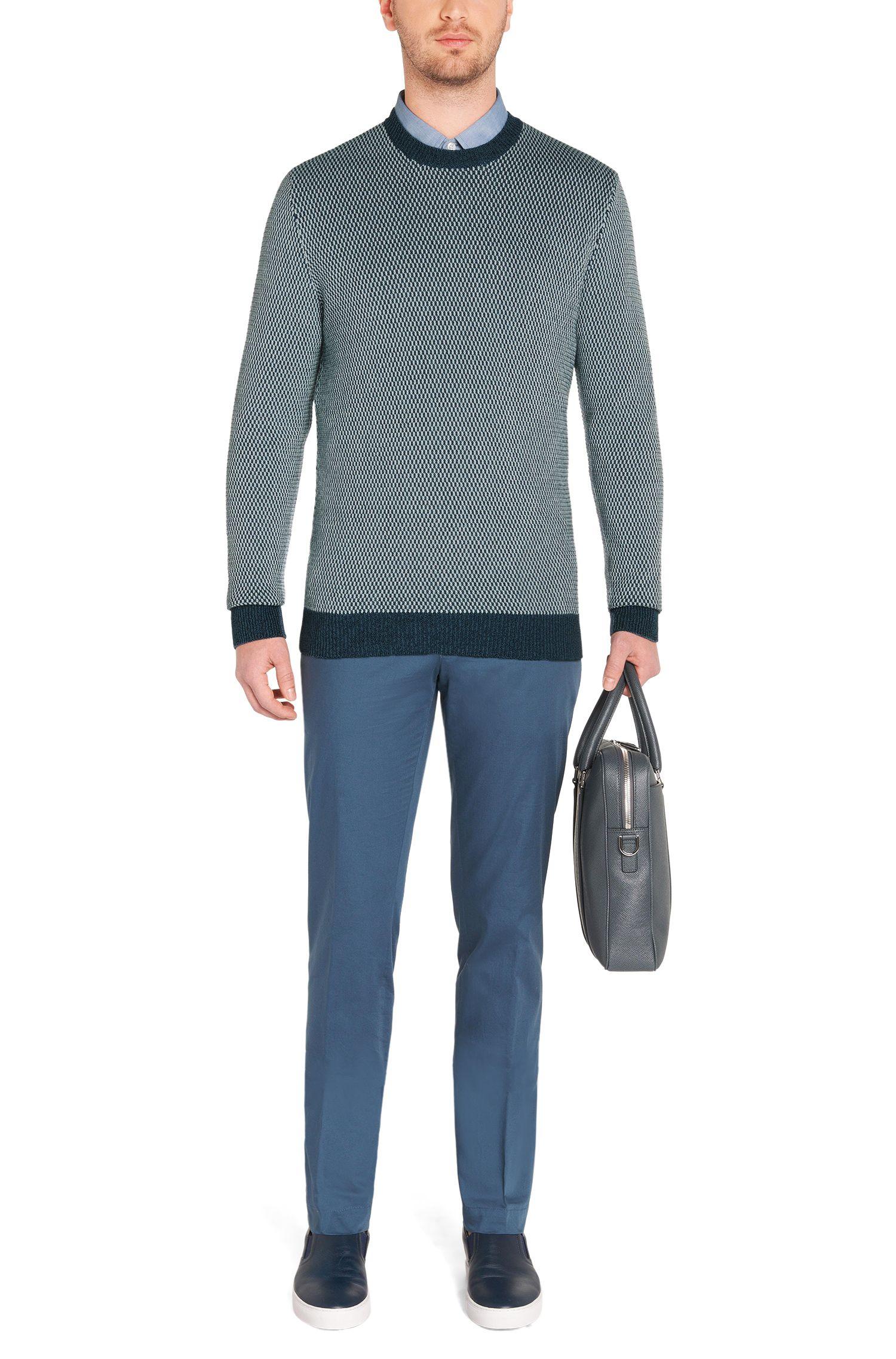Regular-fit trui van katoen met ronde hals: 'Heldo'