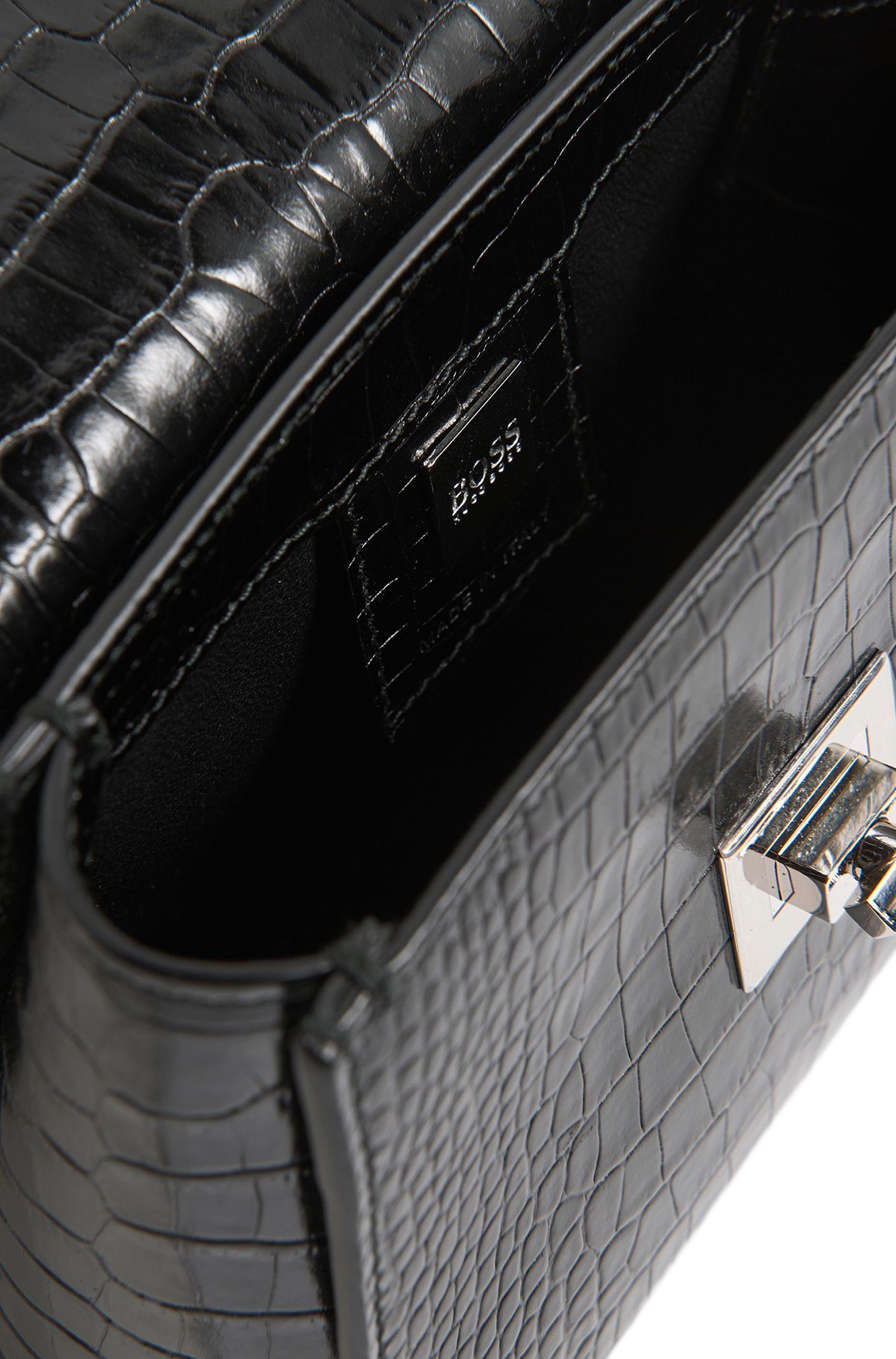 Petit sac à main BOSS Bespoke en cuir à imprimé croco