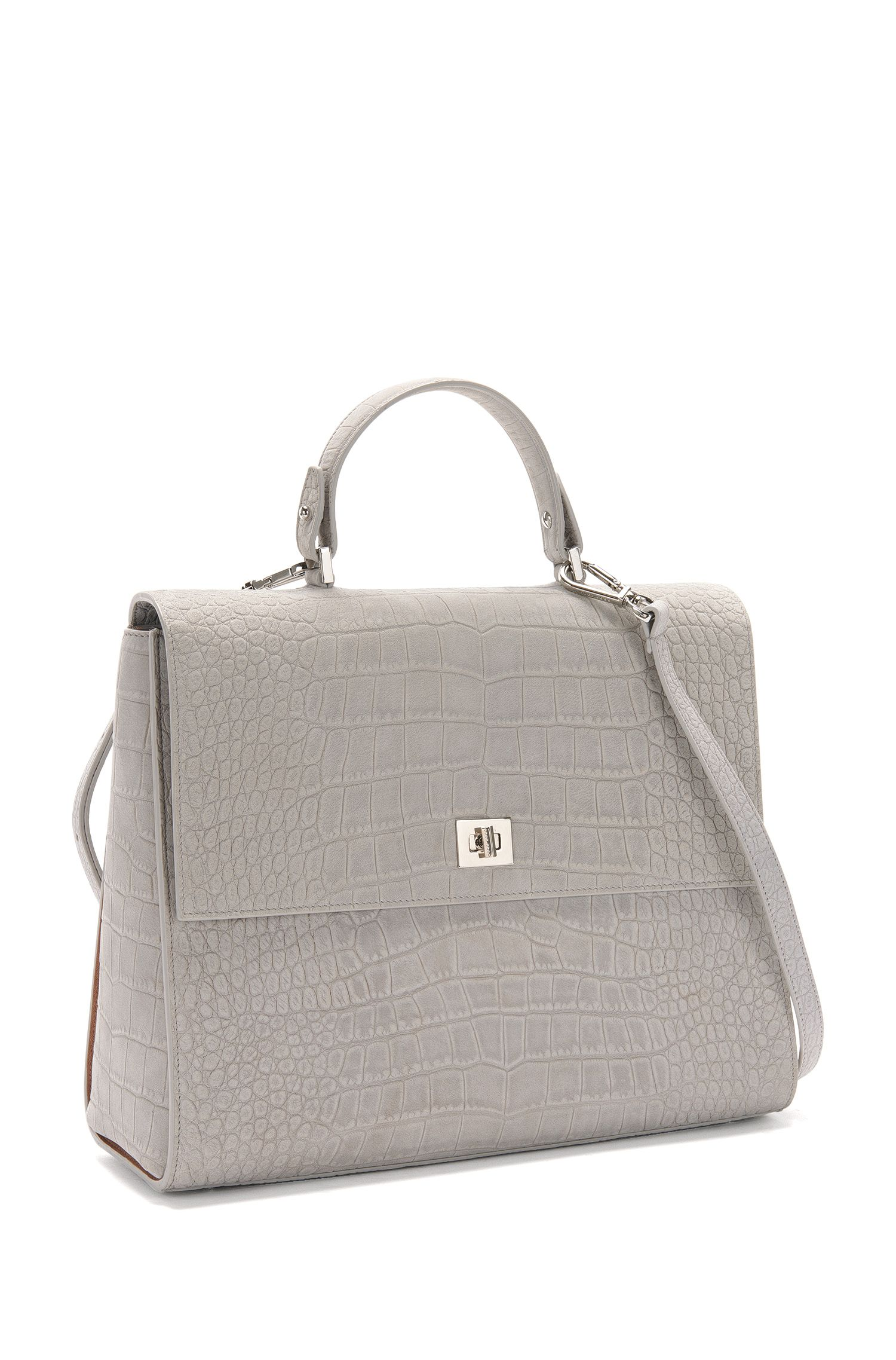 BOSS Bespoke Handtasche aus Nubukleder