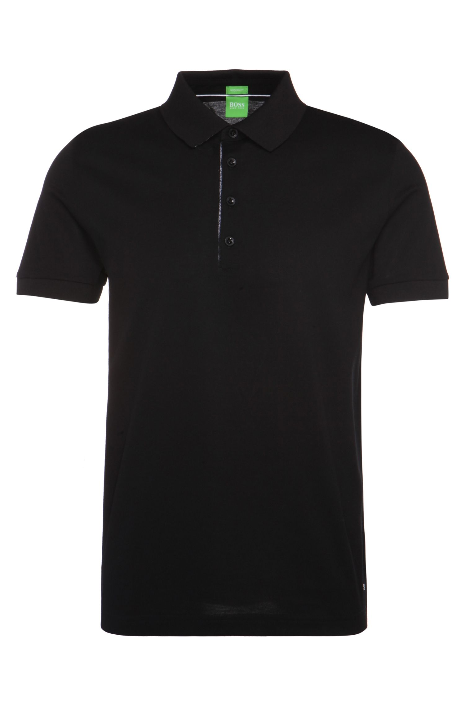 Regular-fit polo shirt in mercerised piqué: 'C-Genova'