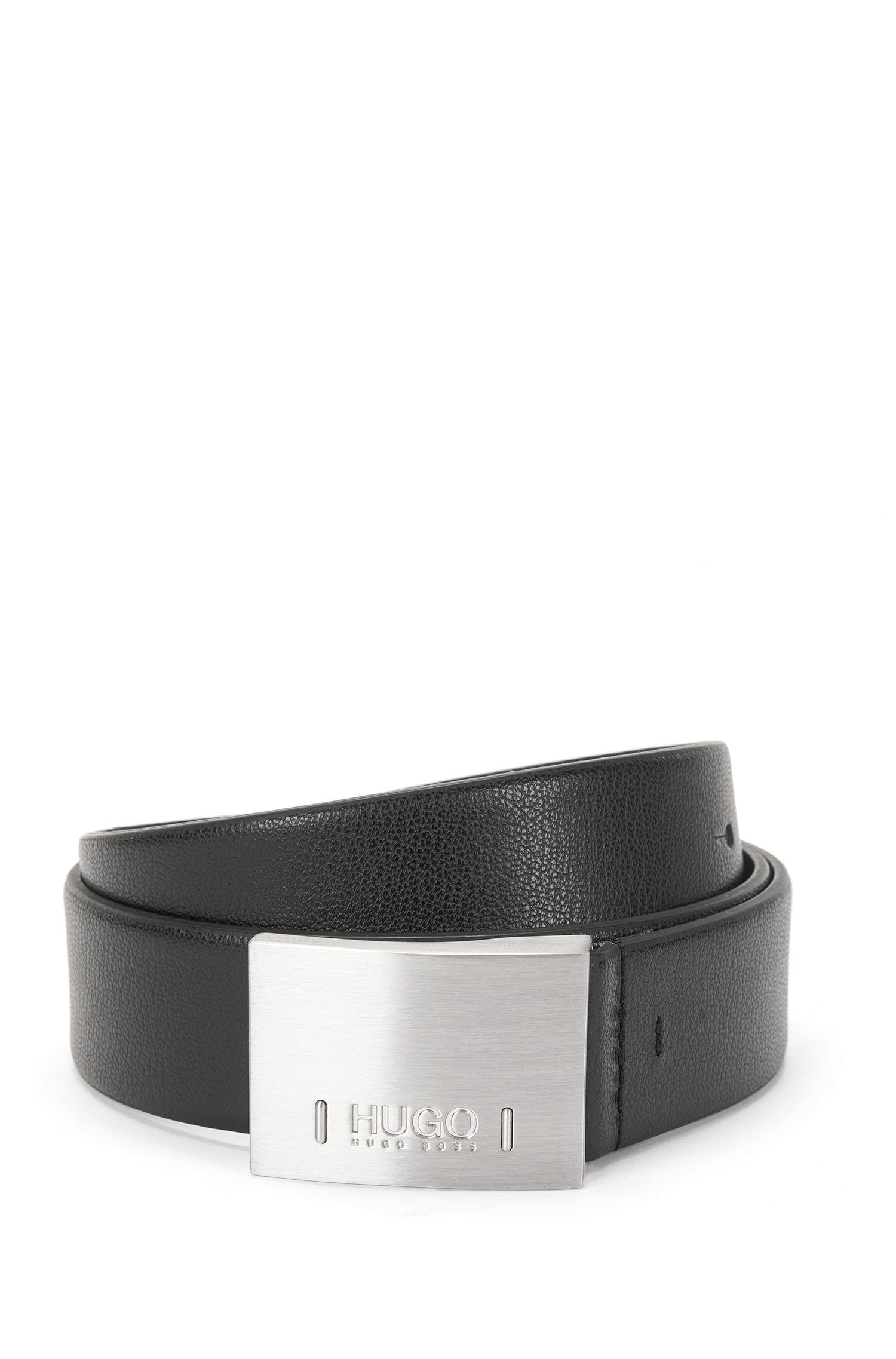 Belt in grained leather: 'C-Bax_Sz35_ltpl'