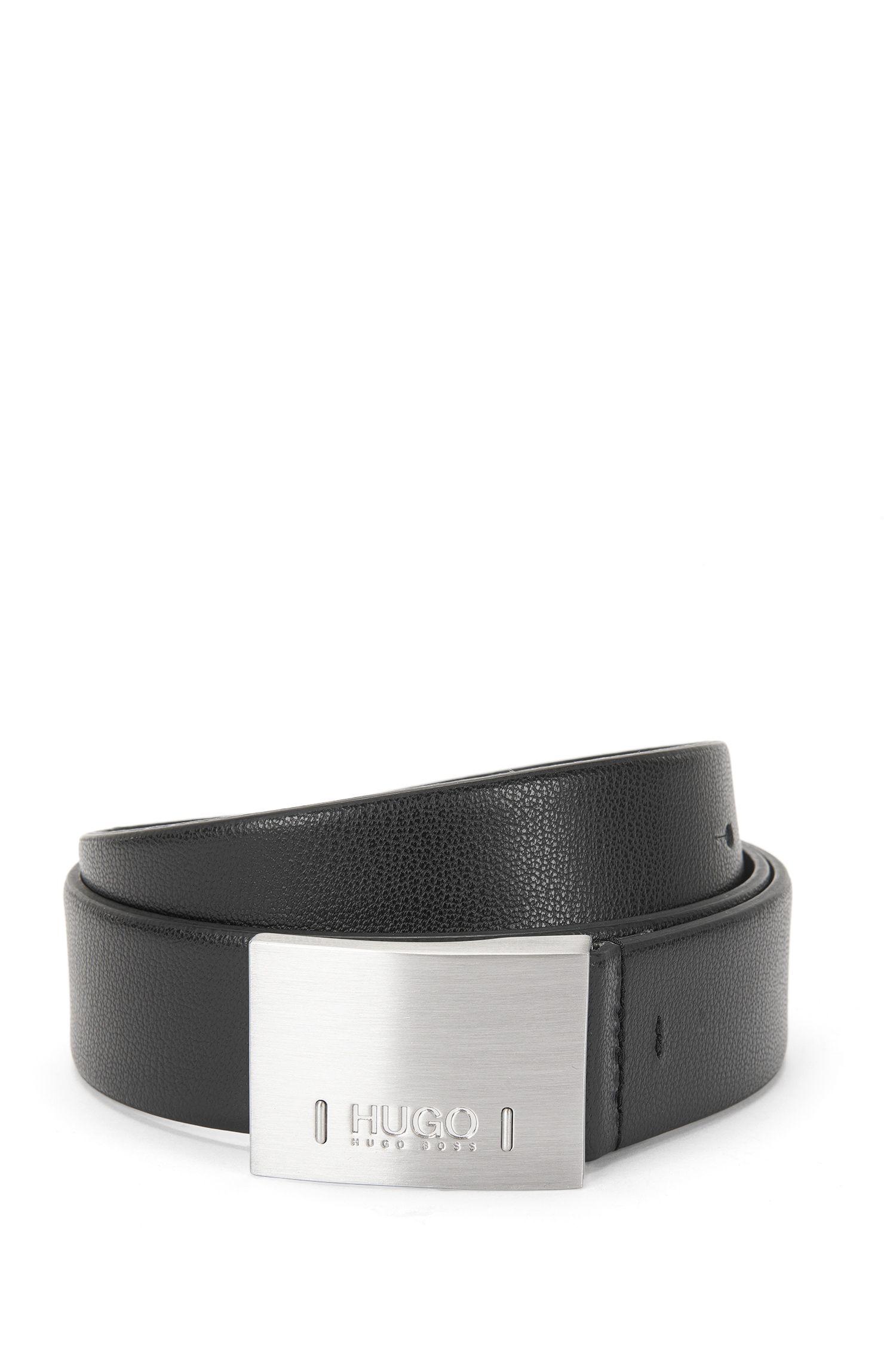 Cintura in pelle con nervature: 'C-Bax_Sz35_ltpl'