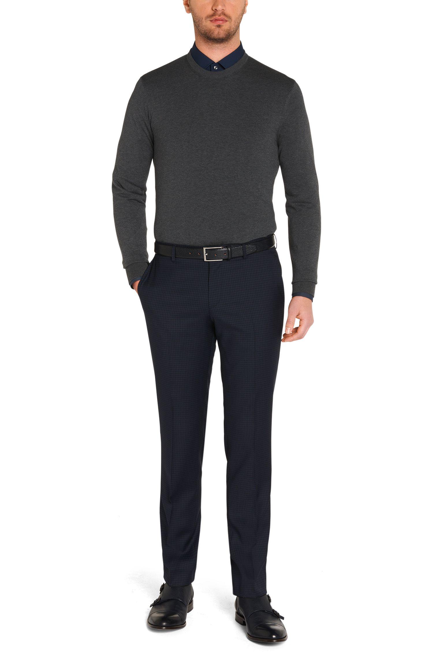 Slim-Fit Pullover aus reiner Baumwolle: 'Fabello-H'