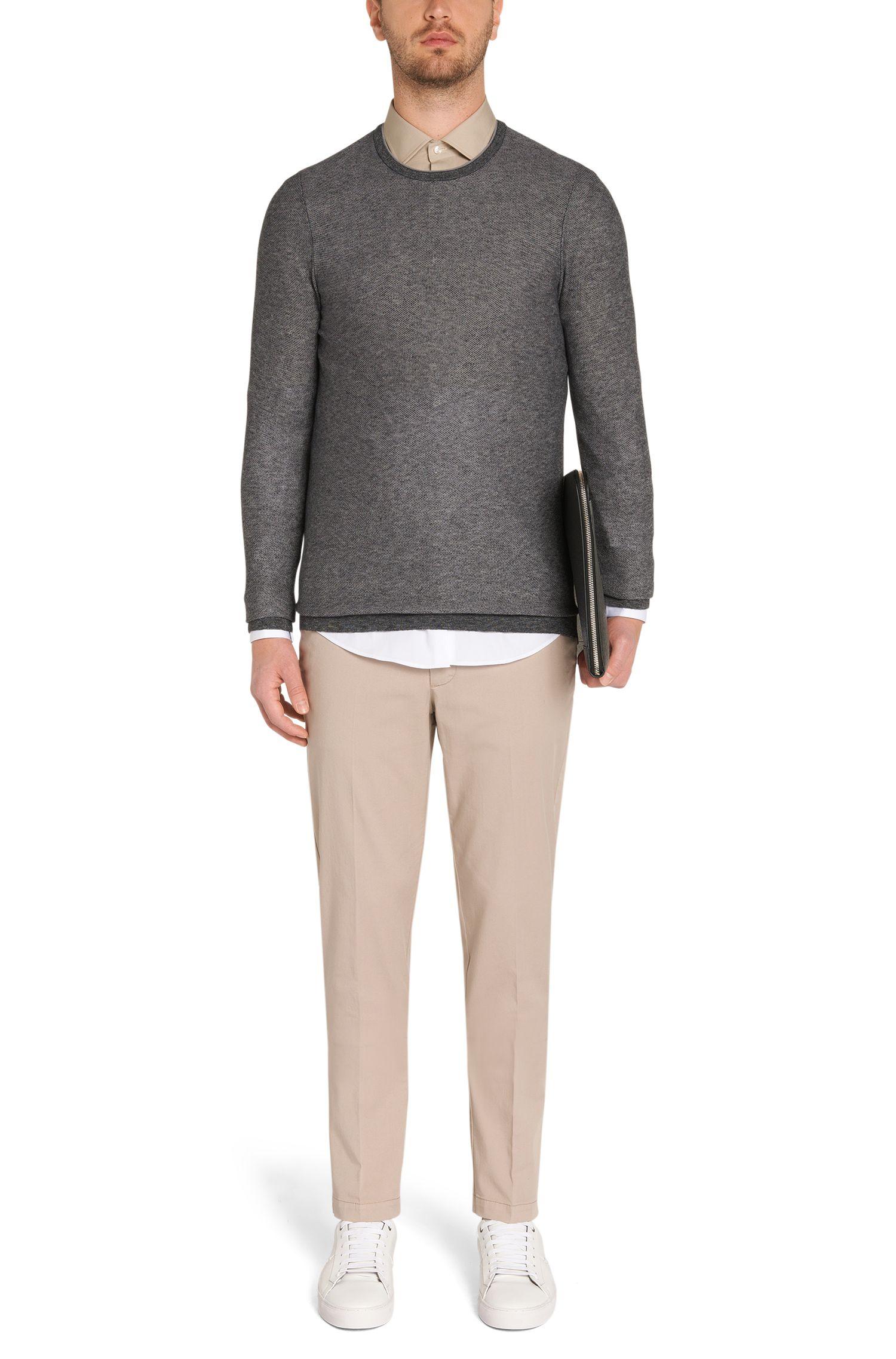 Slim-Fit Pullover aus Baumwolle: 'Hamlett'