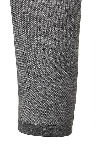 Slim-Fit Pullover aus Baumwolle: 'Hamlett', Dunkelgrau