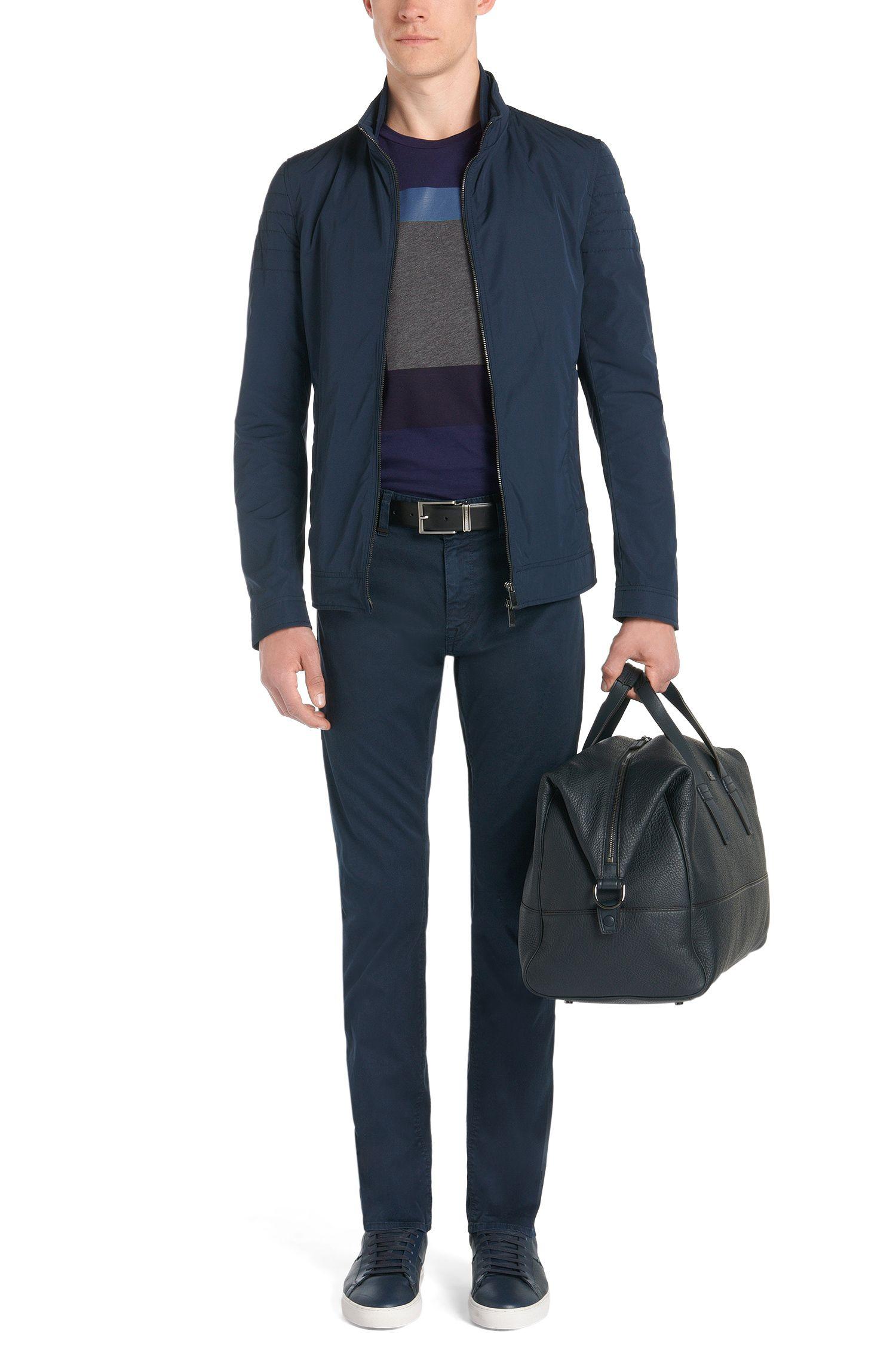 Slim-Fit T-Shirt aus Baumwolle mit geometrischem Front-Print: 'Tessler 20'