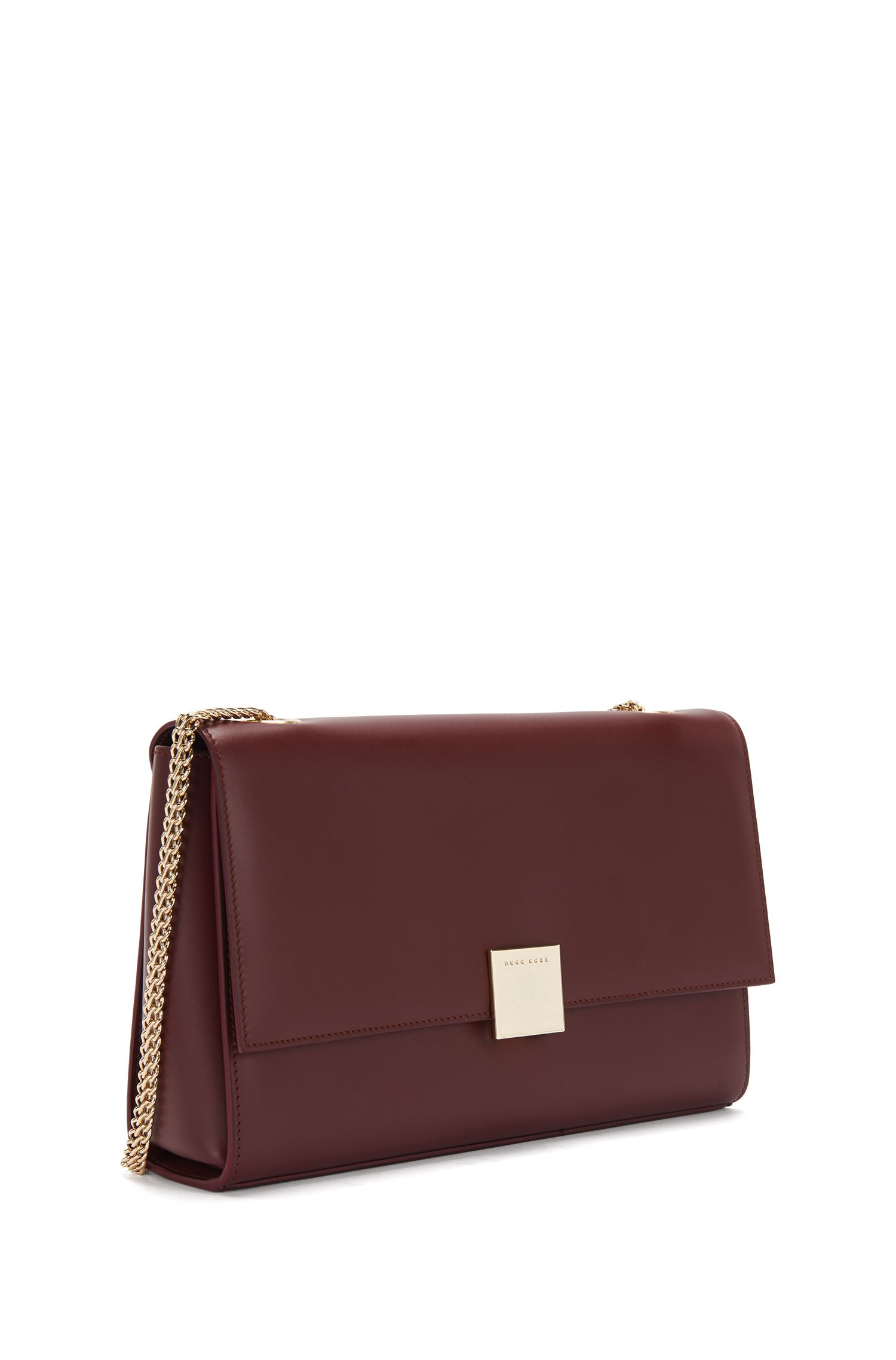 Unifarbene Clutch aus Leder: 'Munich Flap'