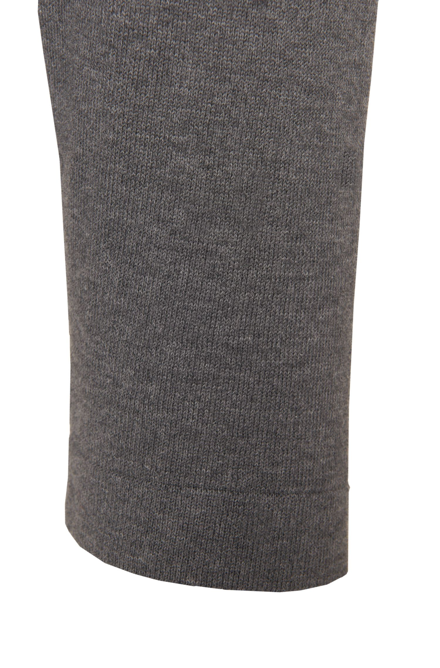 Pull Slim Fit en coton avec broderie intarsia: «Haiden»