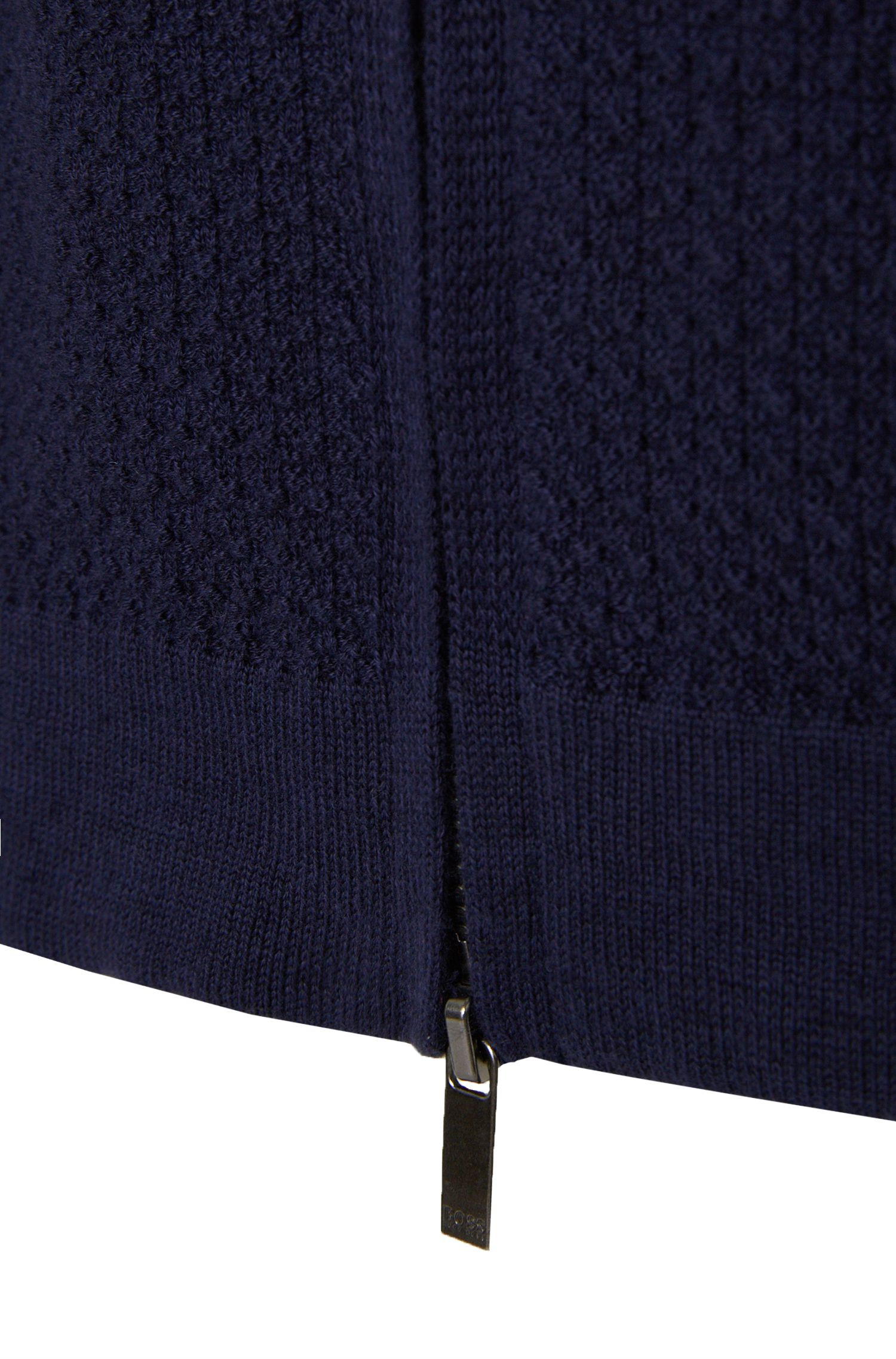 Slim-Fit Strickjacke aus Baumwoll-Mix mit Schurwolle: 'Holden'
