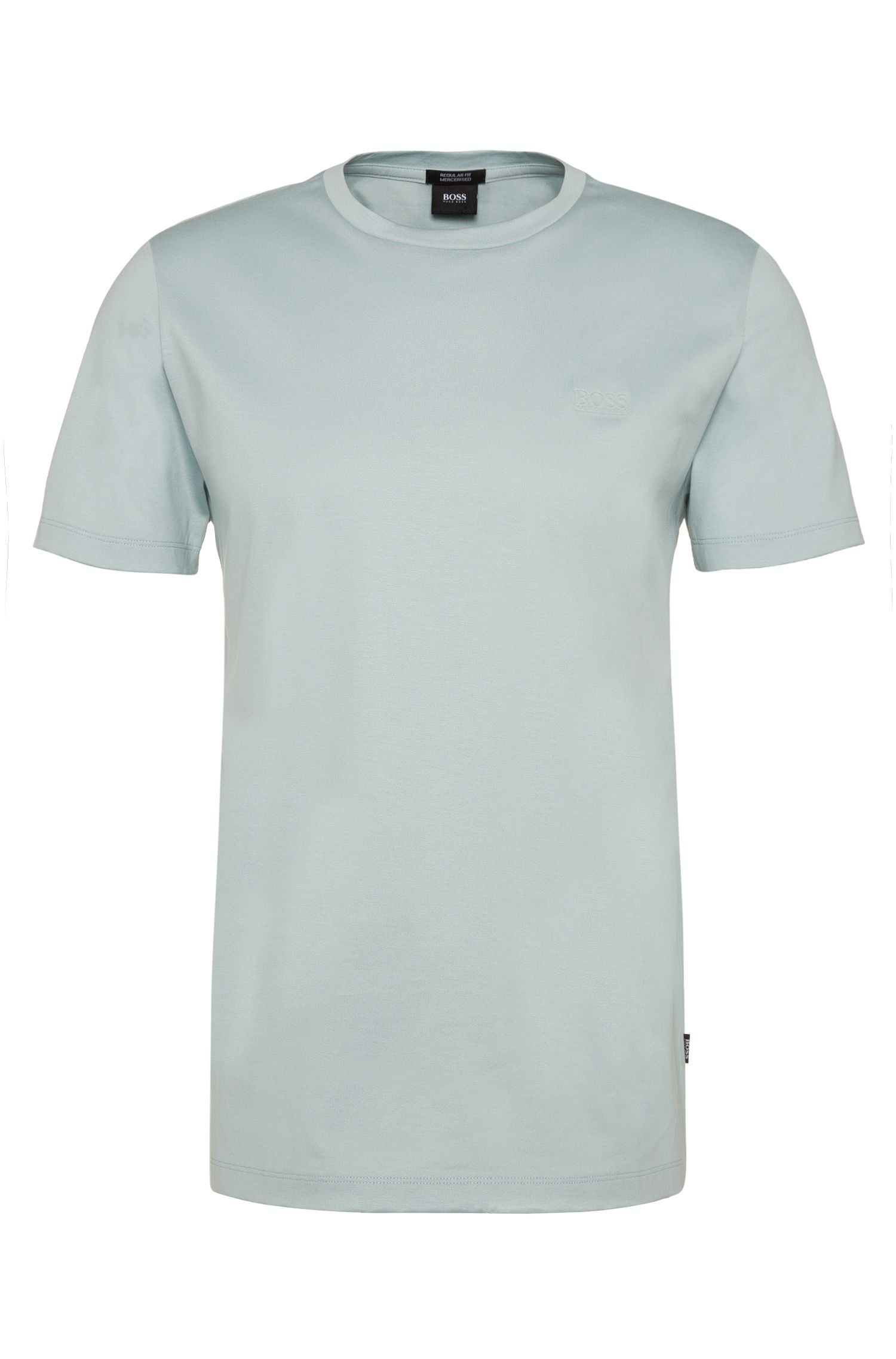 Regular-fit t-shirt in mercerised cotton: 'Tiburt 01'