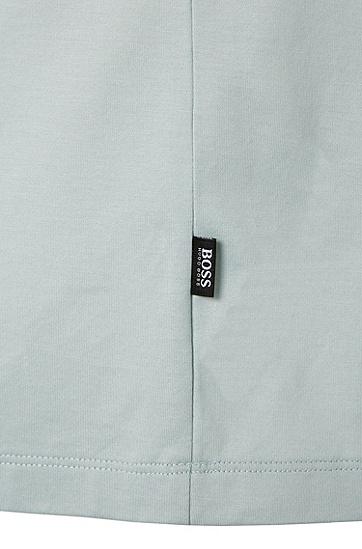 Regular-Fit T-Shirt aus merzerisierter Baumwolle: 'Tiburt 01', Hellgrün