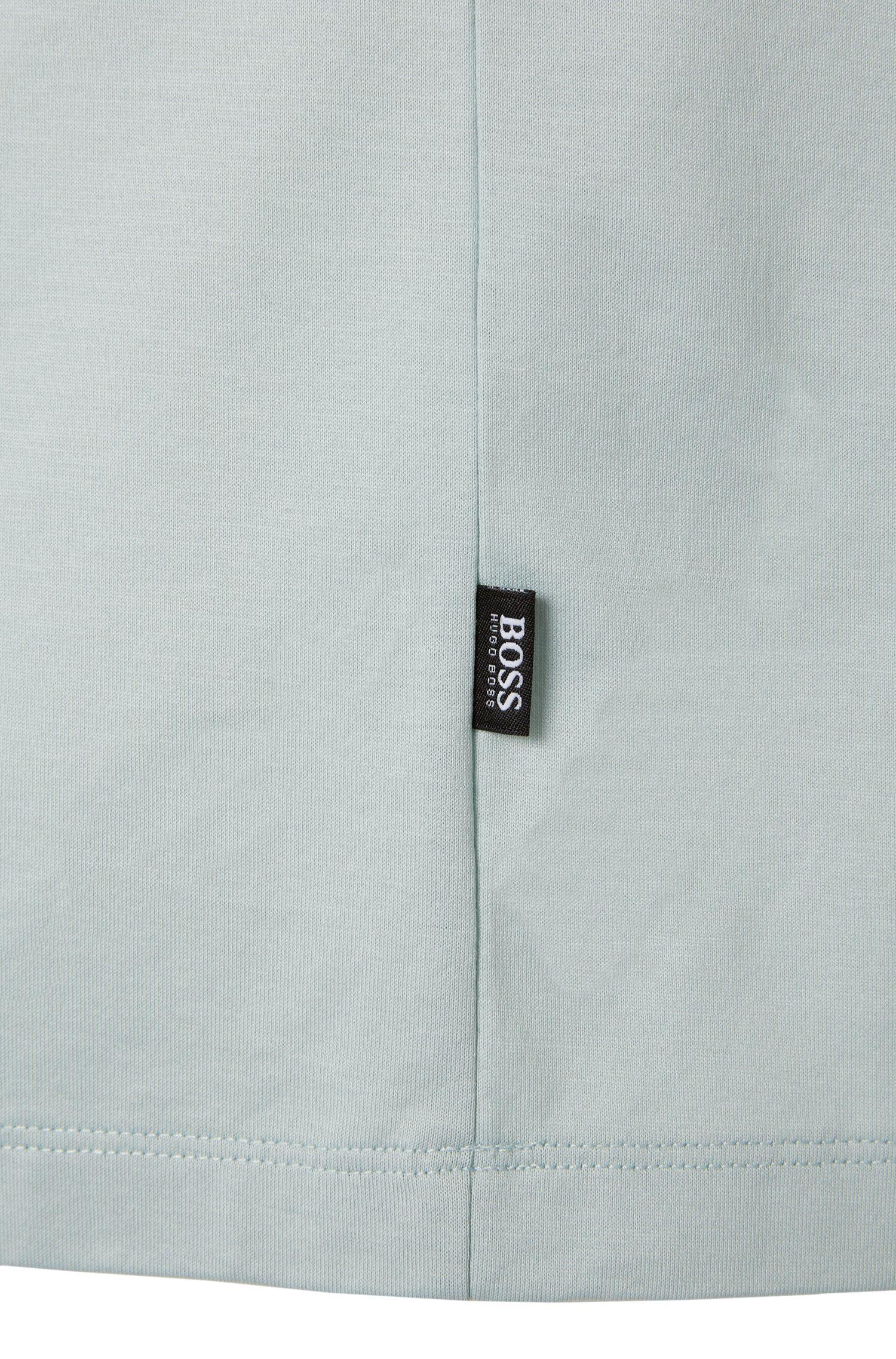 T-shirt Regular Fit en coton mercerisé: «Tiburt01»