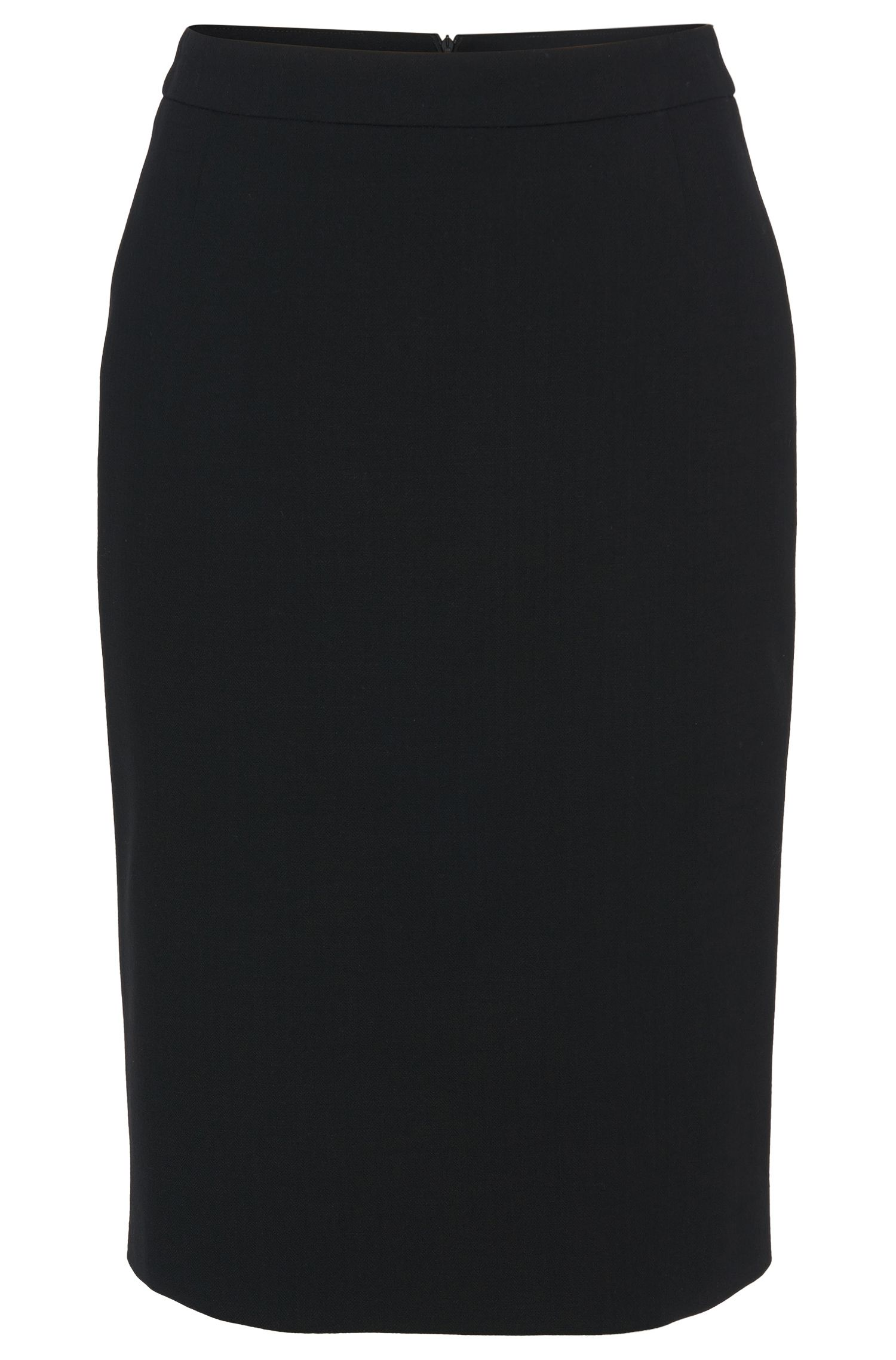 Pencil skirt in stretch new wool: 'Vilea1'