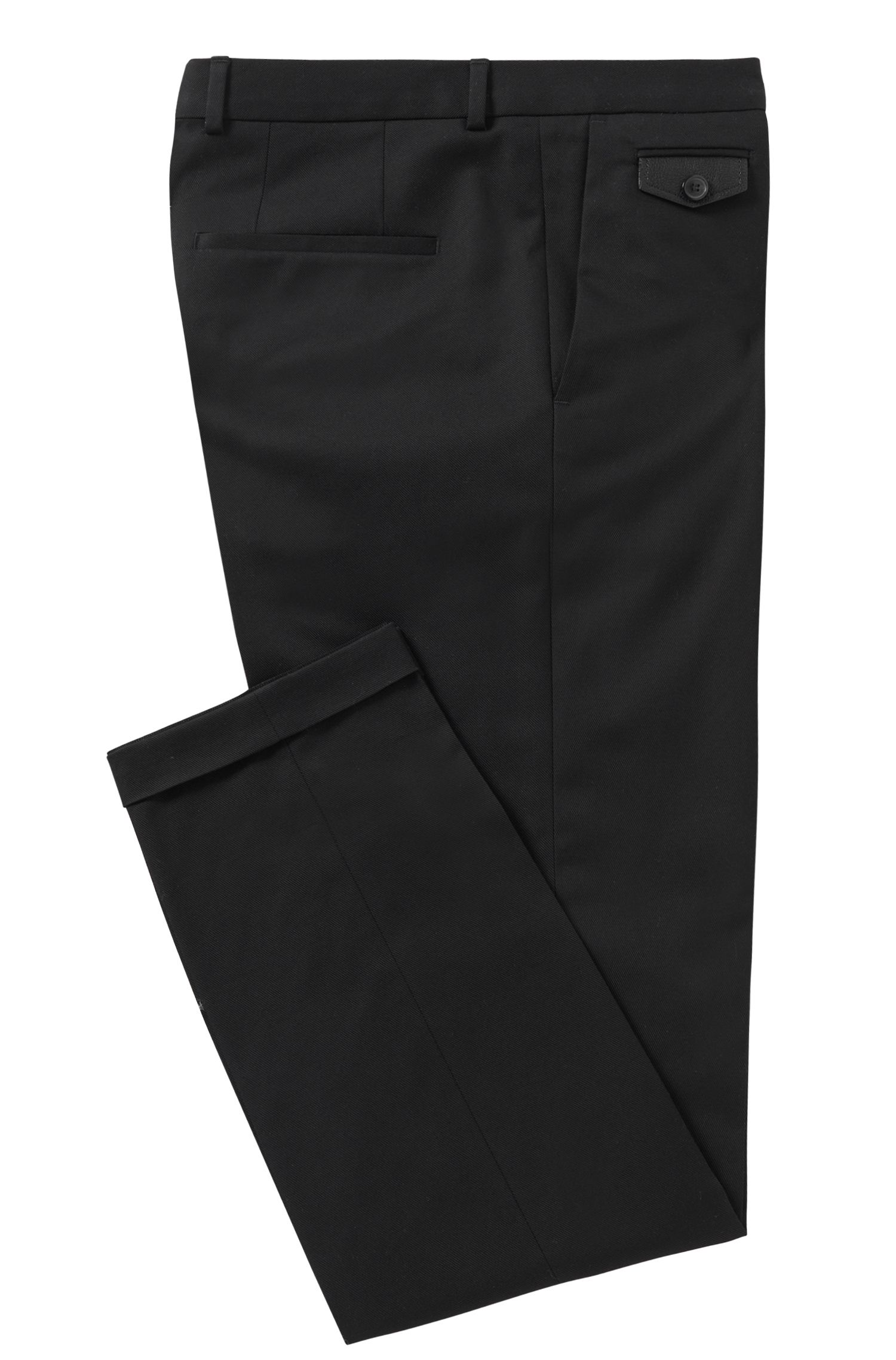 Chino Slim Fit en coton stretch : « Helvin »