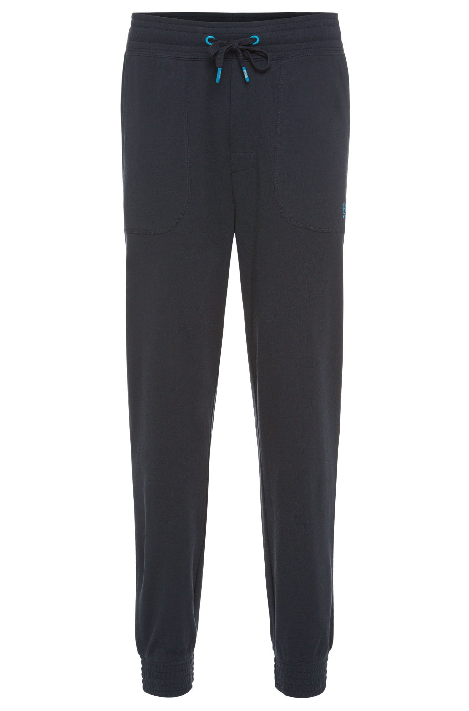 Pantalon sweat en coton avec détails contrastants : « Long Pant Cuffs »